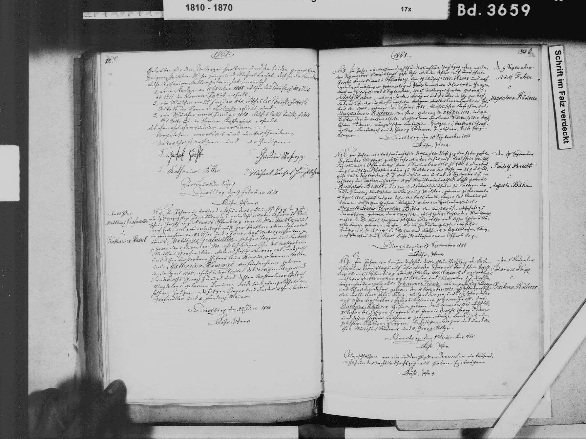 Diersburg, Hohberg OG; Evangelische Gemeinde: Heiratsbuch 1810-1869, Bild 3