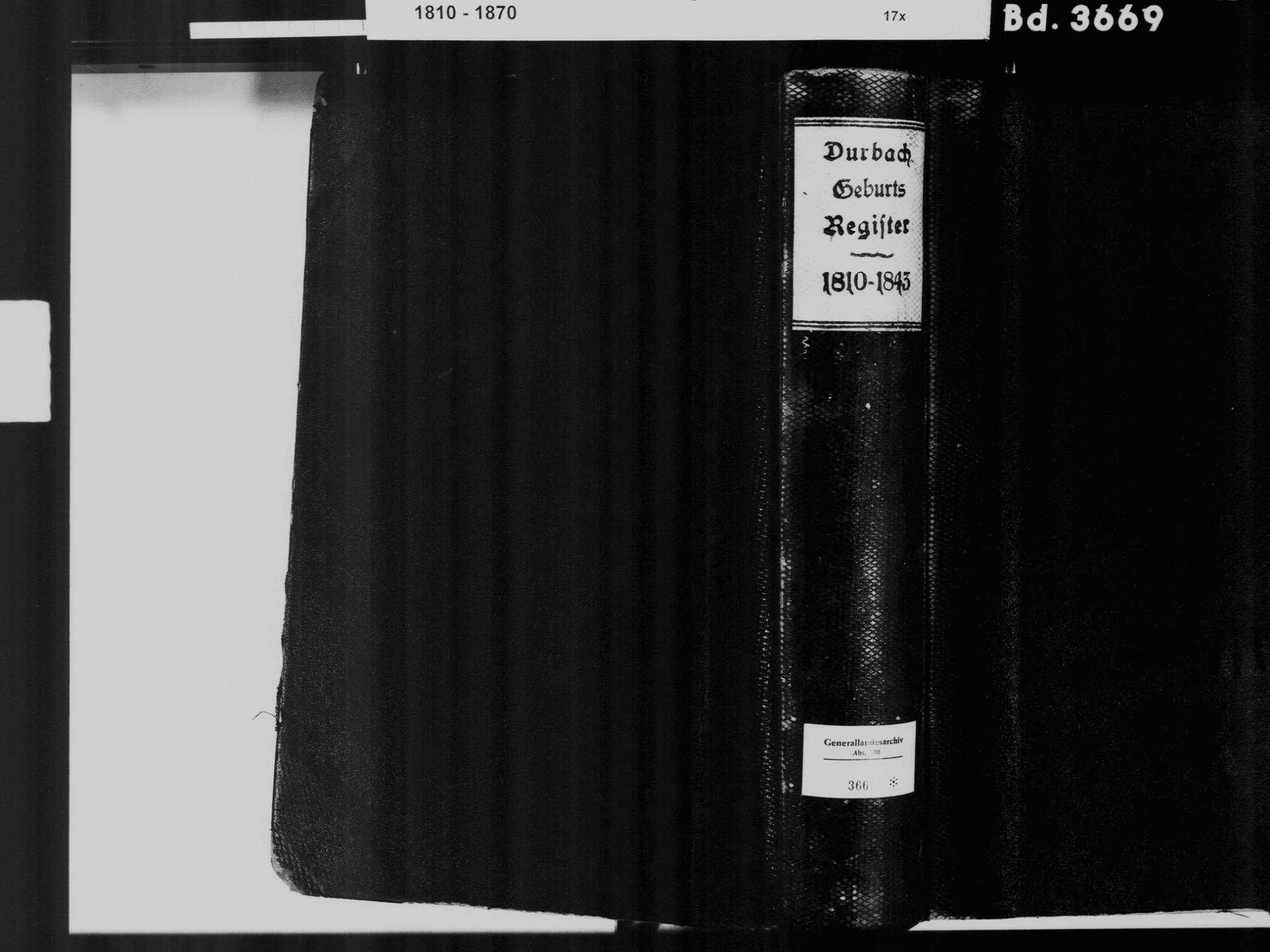 Durbach OG; Katholische Gemeinde: Geburtenbuch 1810-1843, Bild 3