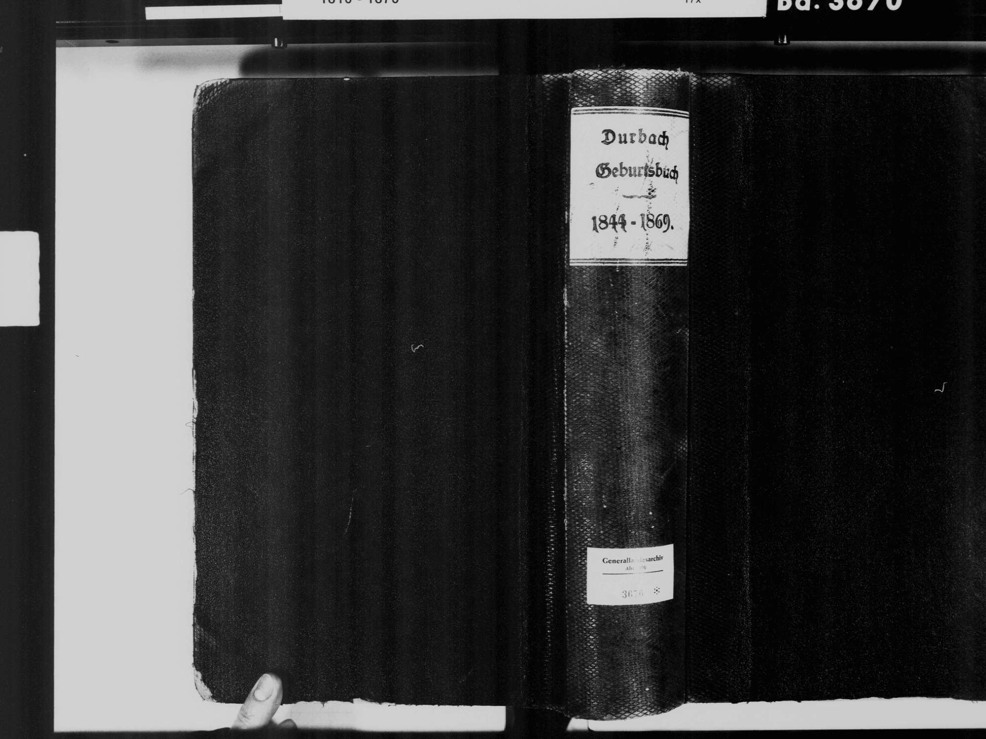 Durbach OG; Katholische Gemeinde: Geburtenbuch 1844-1869, Bild 2
