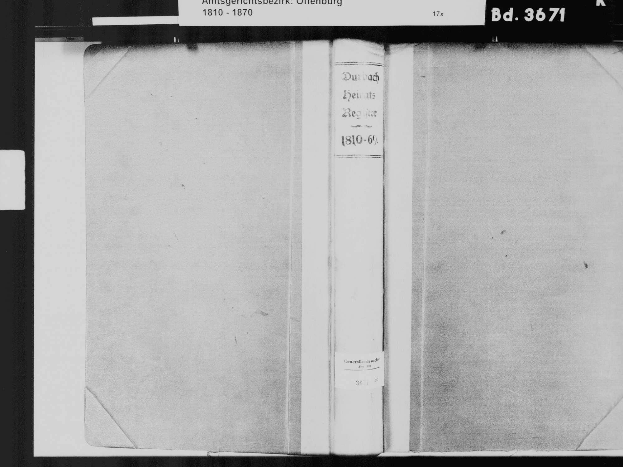 Durbach OG; Katholische Gemeinde: Heiratsbuch 1810-1869, Bild 2