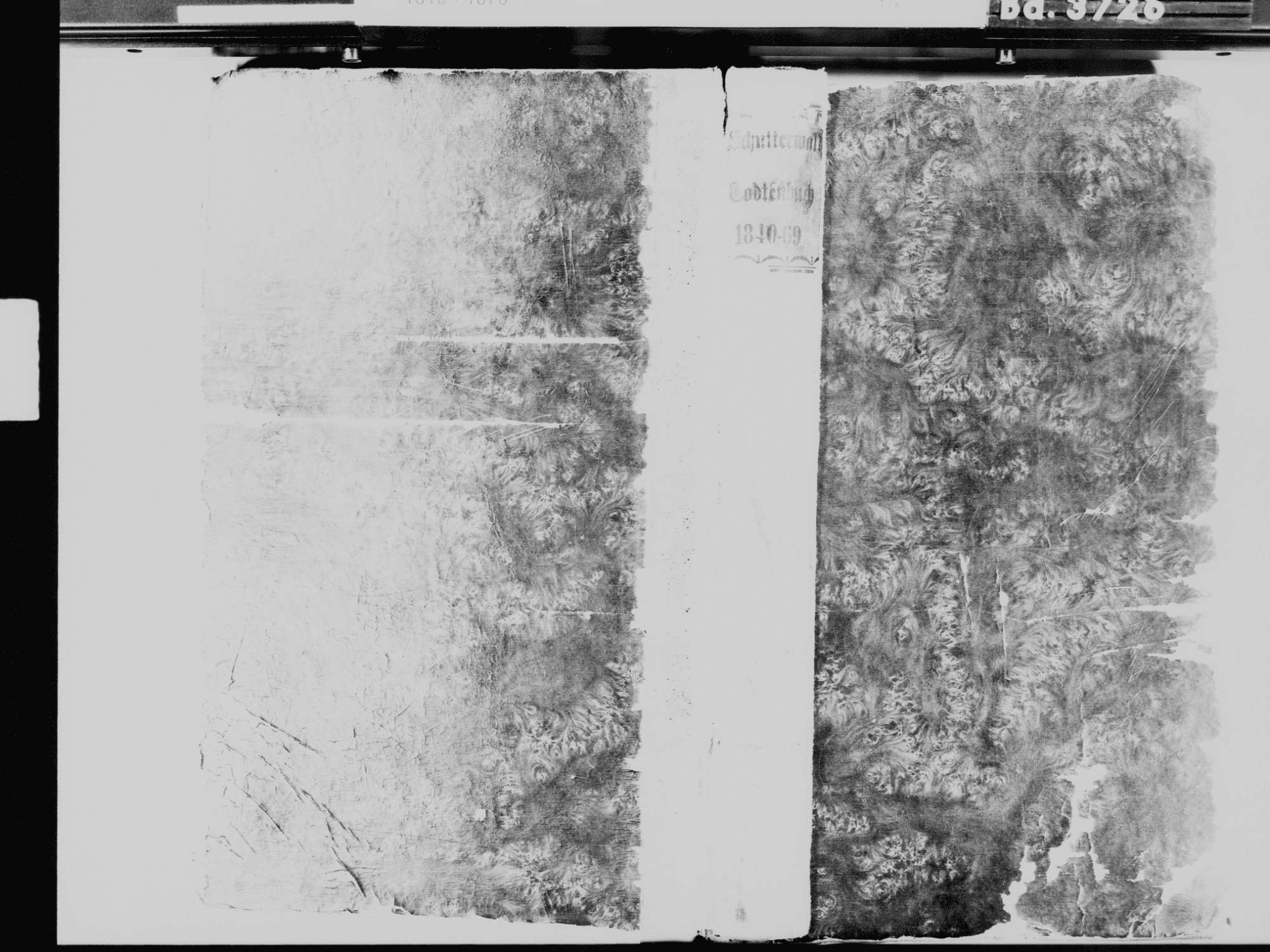 Schutterwald OG; Katholische Gemeinde: Sterbebuch 1840-1870, Bild 2