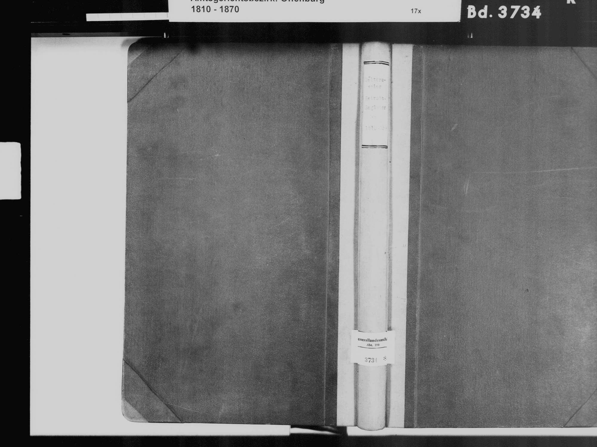Waltersweier, Offenburg OG; Katholische Gemeinde: Heiratsbuch 1810-1870, Bild 2