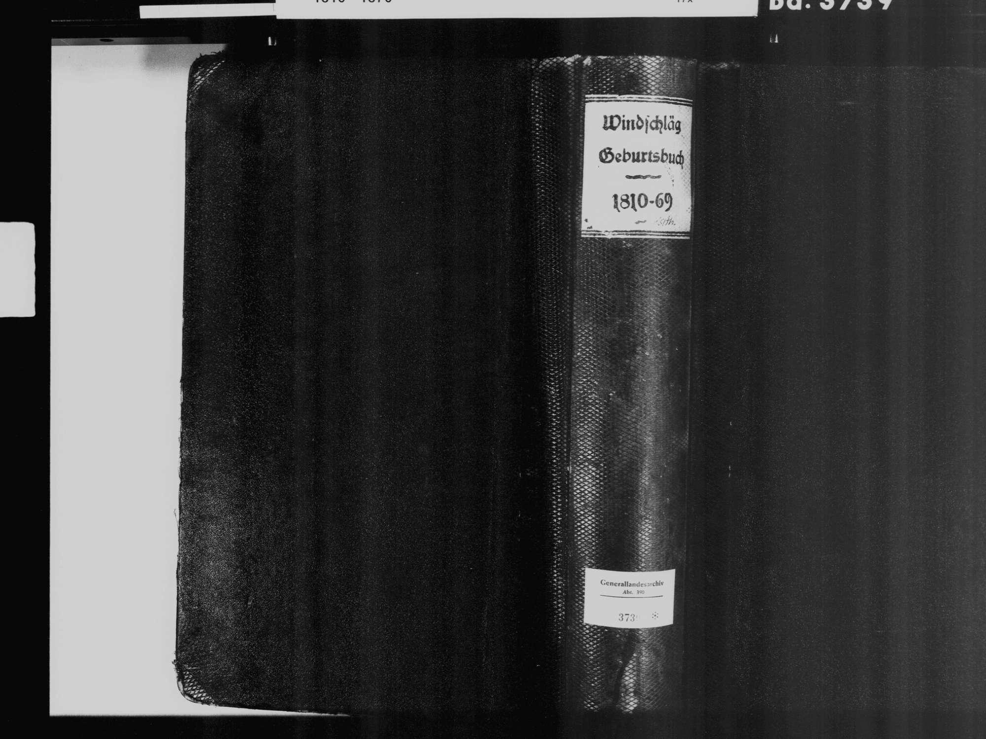 Windschläg, Offenburg OG; Katholische Gemeinde: Geburtenbuch 1810-1870, Bild 2