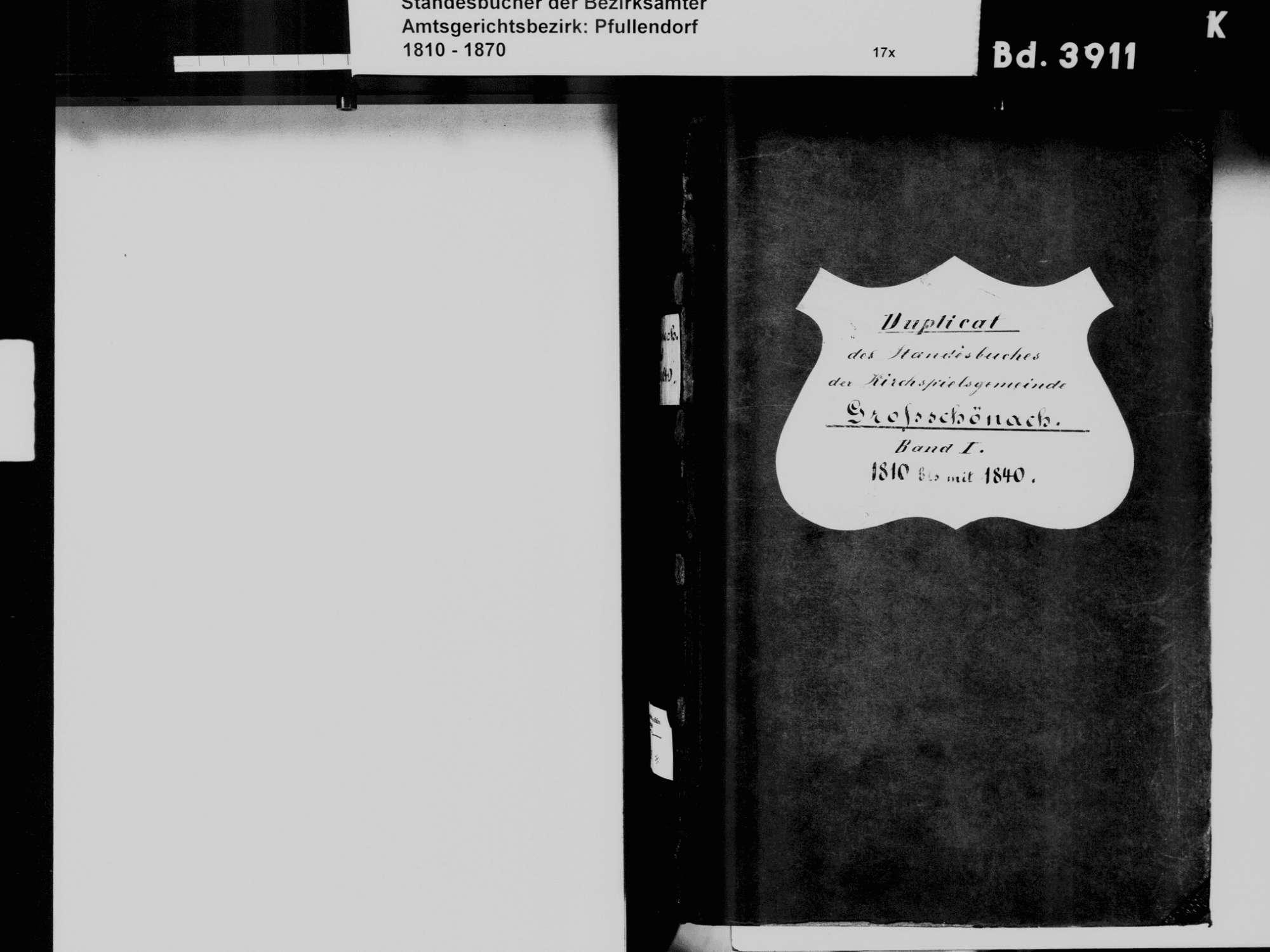 Großschönach, Herdwangen-Schönach SIG; Katholische Gemeinde: Standesbuch 1810-1840, Bild 3