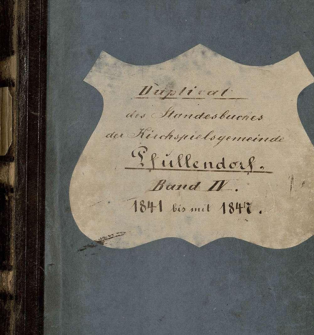 Pfullendorf SIG; Katholische Gemeinde: Standesbuch 1841-1847, Bild 1