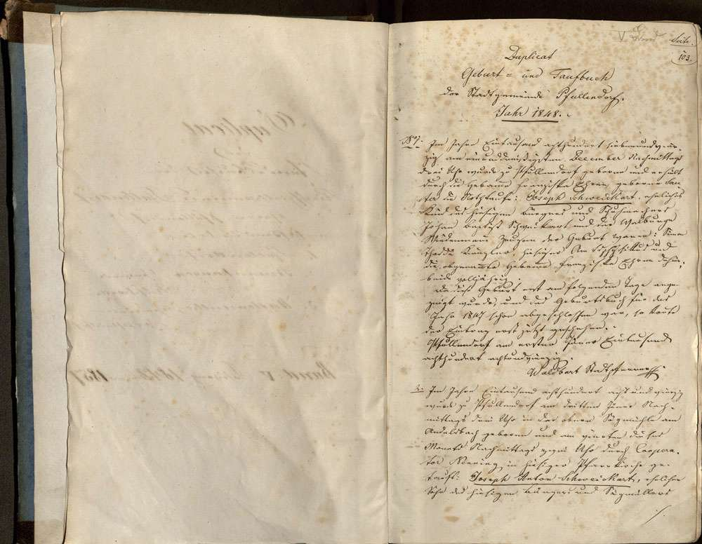 Pfullendorf SIG; Katholische Gemeinde: Standesbuch 1848-1857, Bild 3