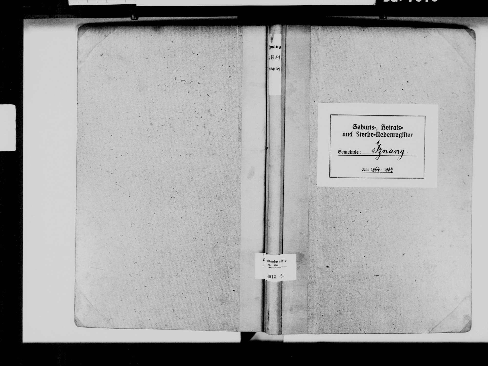 Iznang, Moos KN; Katholische Gemeinde: Standesbuch 1864-1869, Bild 2