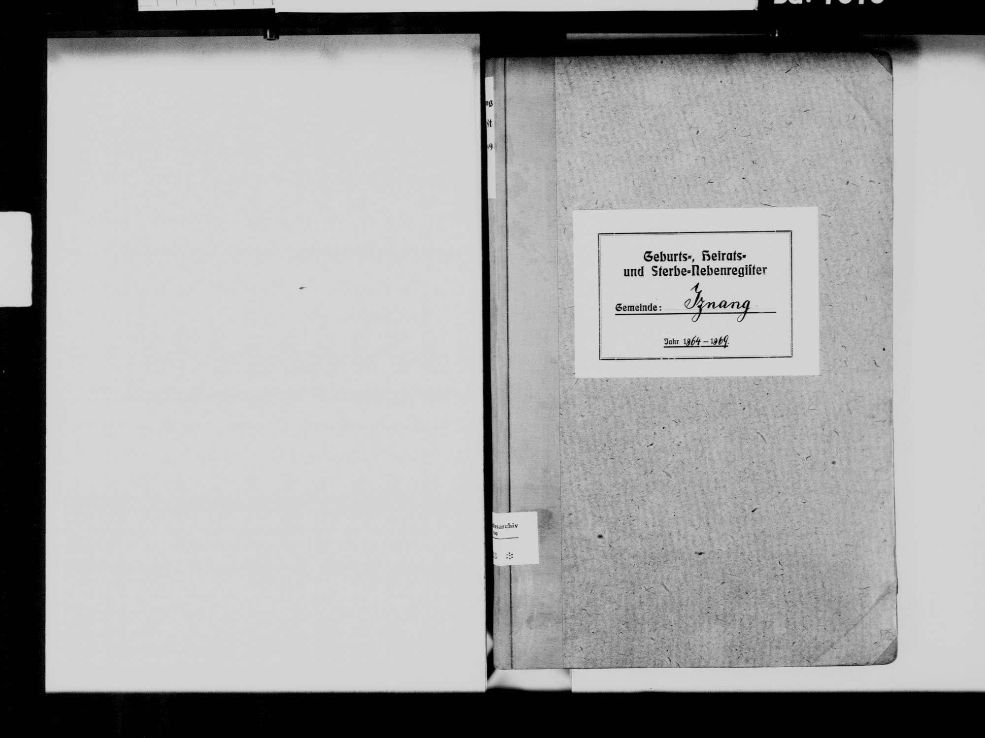 Iznang, Moos KN; Katholische Gemeinde: Standesbuch 1864-1869, Bild 3