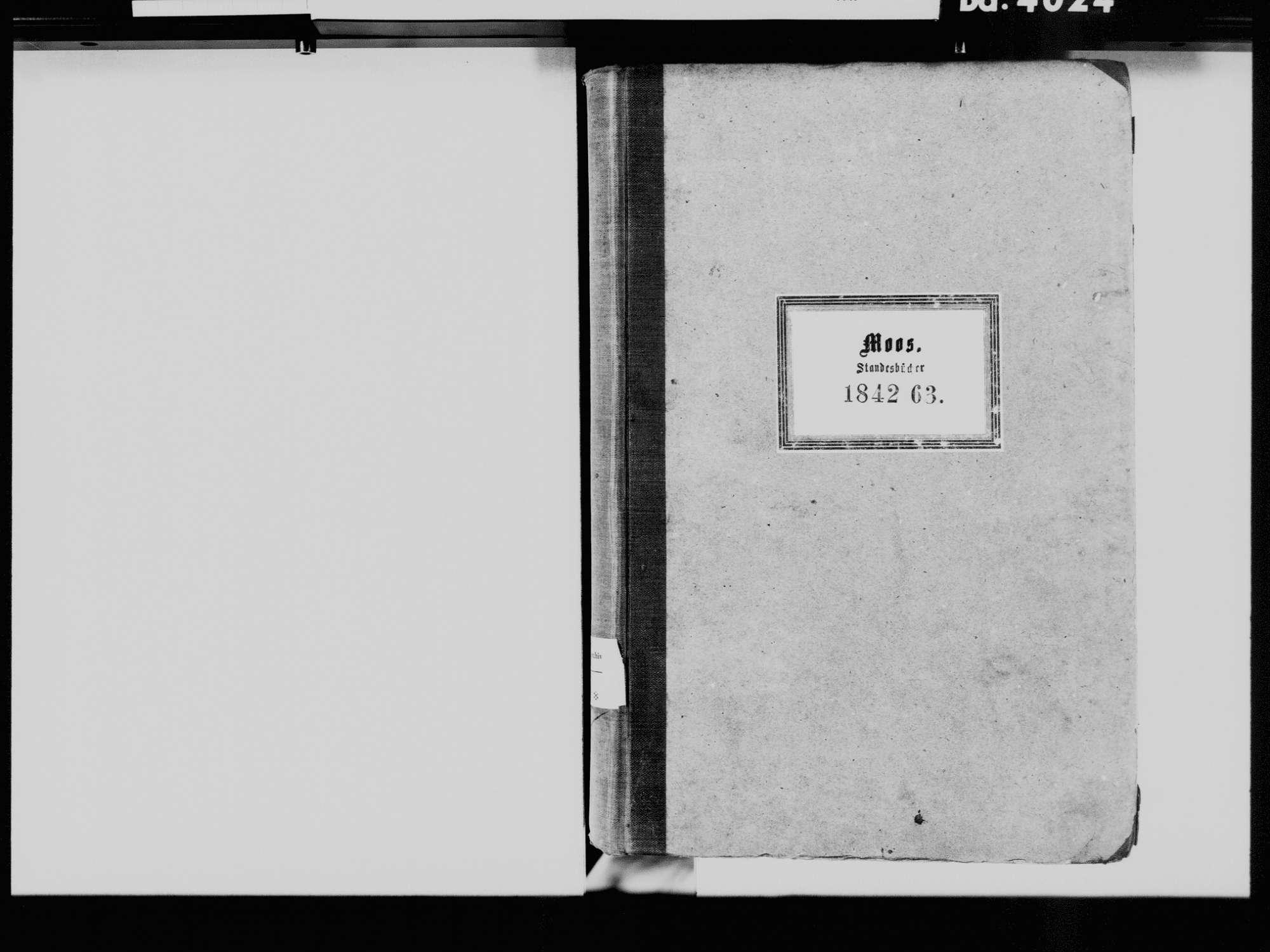 Moos KN; Katholische Gemeinde: Standesbuch 1842-1863, Bild 3