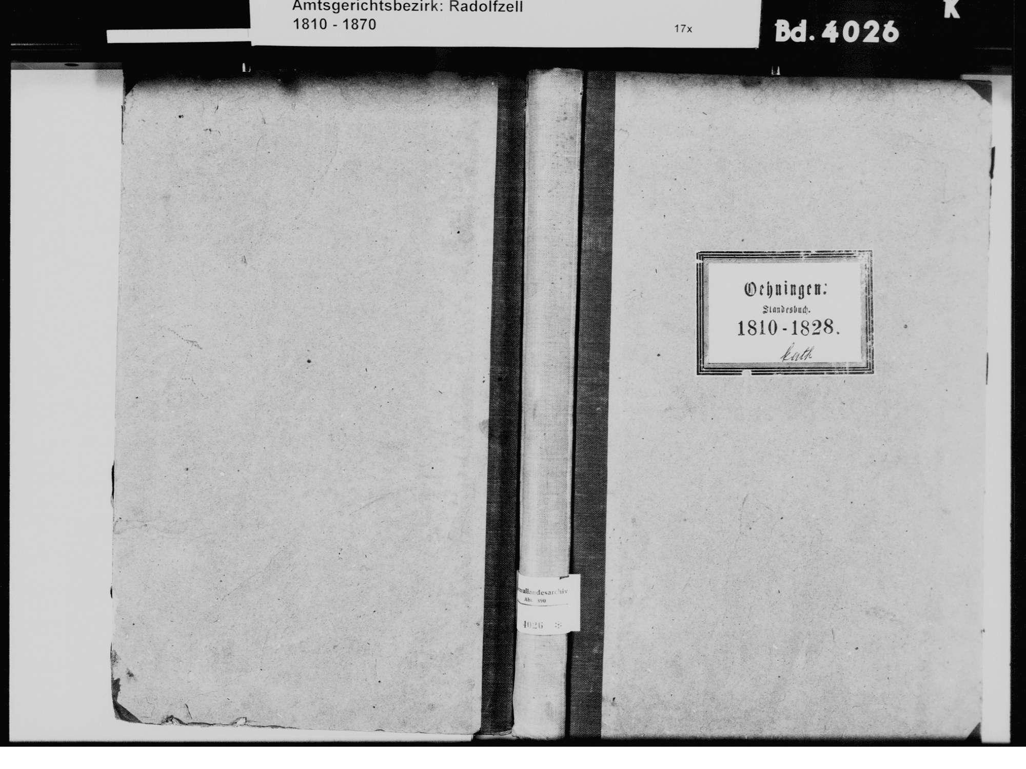 Öhningen KN; Katholische Gemeinde: Standesbuch 1810-1828, Bild 2