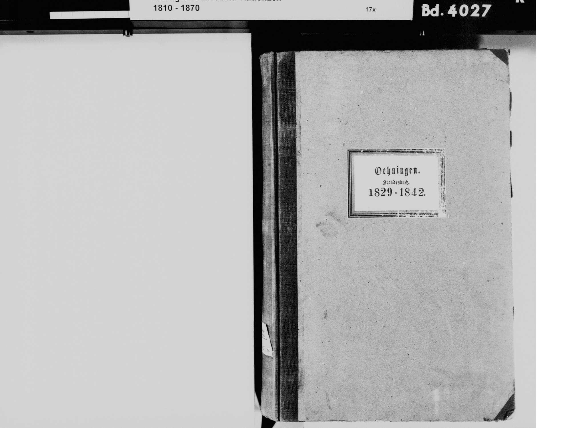 Öhningen KN; Katholische Gemeinde: Standesbuch 1829-1842, Bild 3