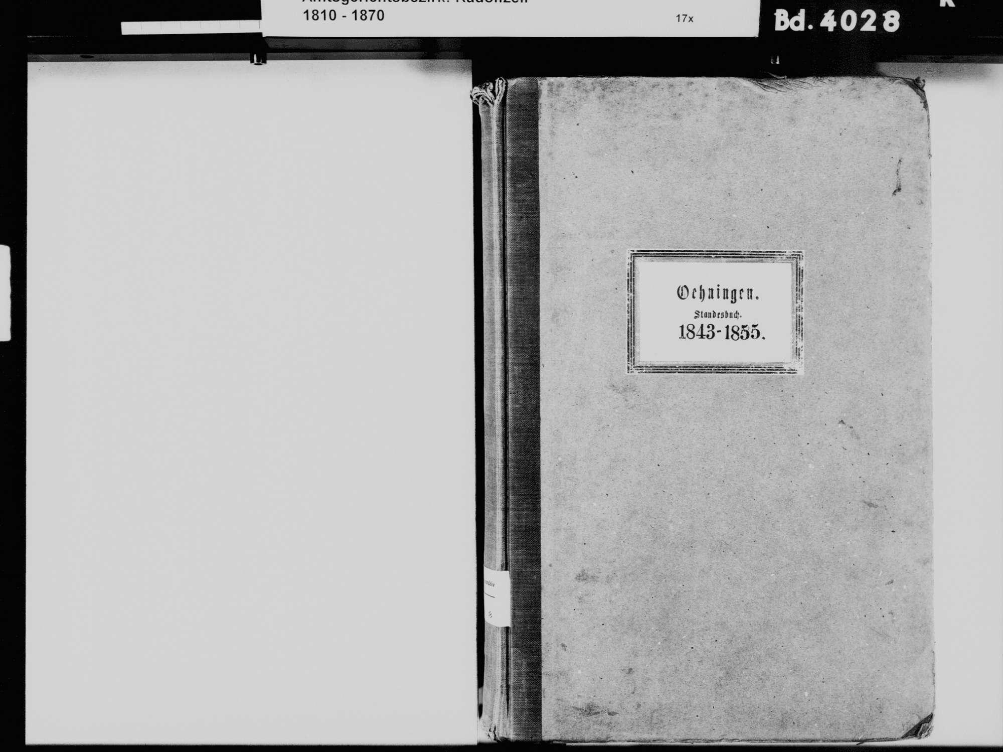 Öhningen KN; Katholische Gemeinde: Standesbuch 1843-1855, Bild 3