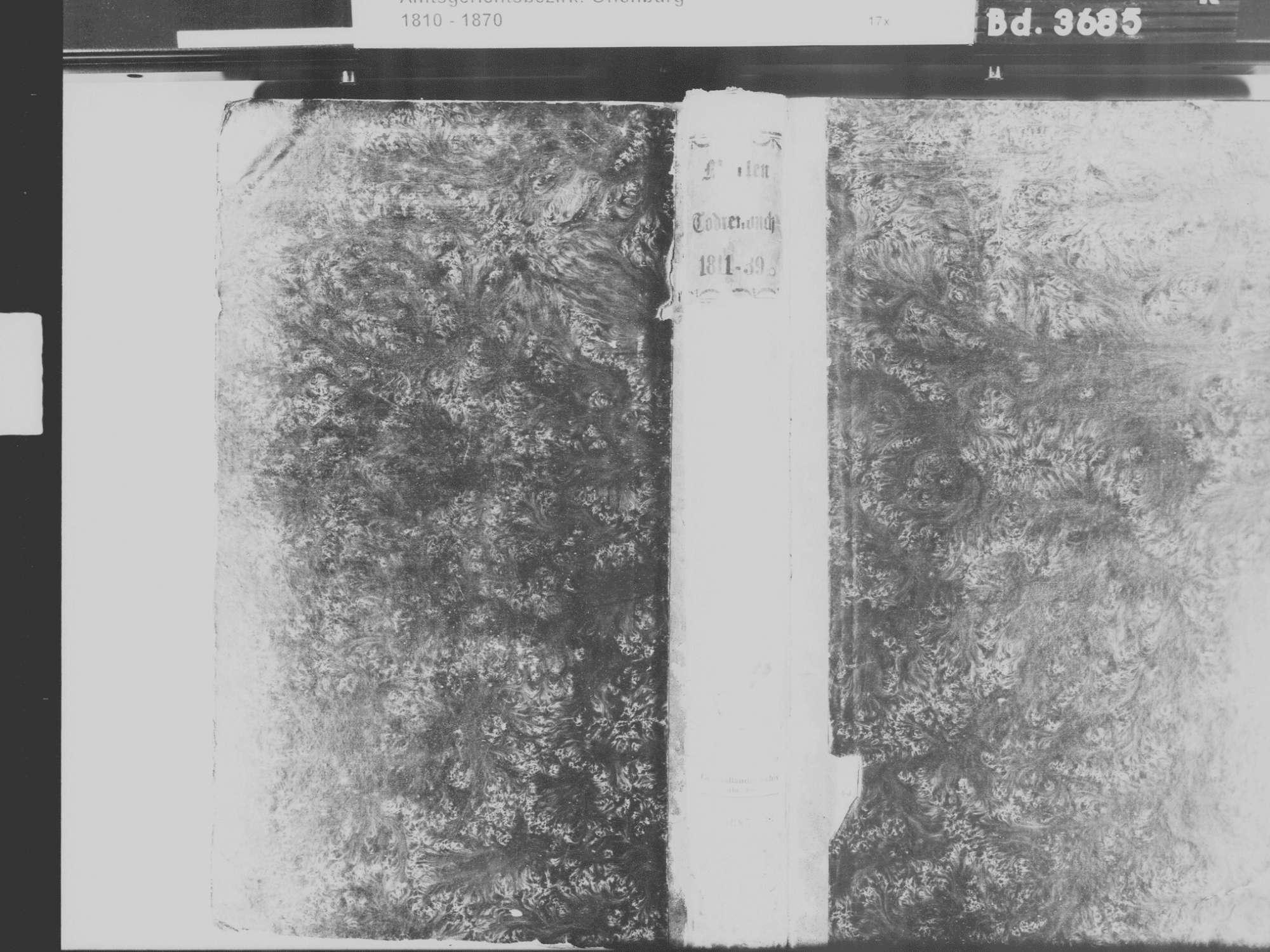 Goldscheuer, Kehl OG; Katholische Gemeinde: Sterbebuch 1811-1839, Bild 2