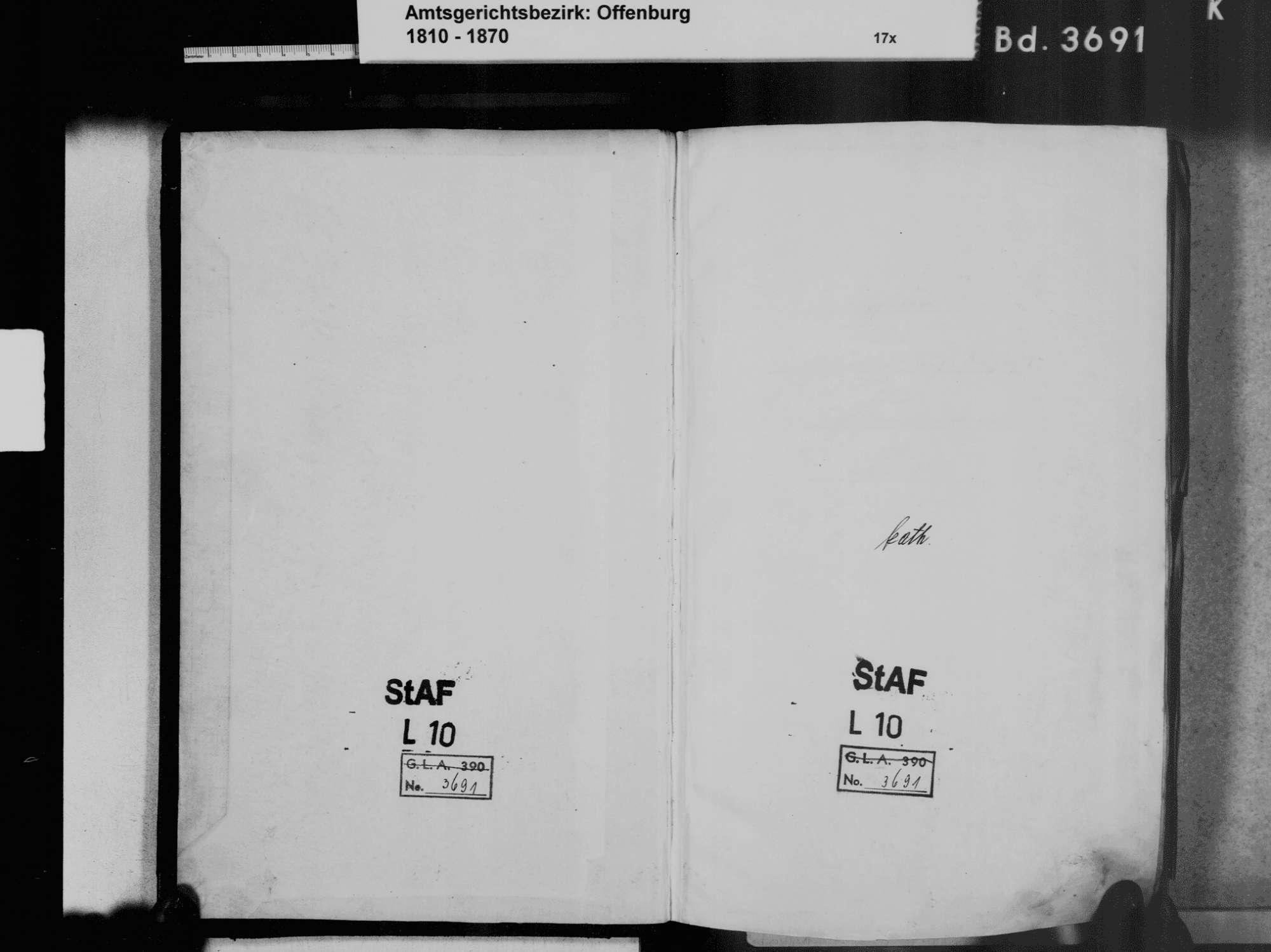 Hofweier, Hohberg OG; Katholische Gemeinde: Geburtenbuch 1836-1869, Bild 3