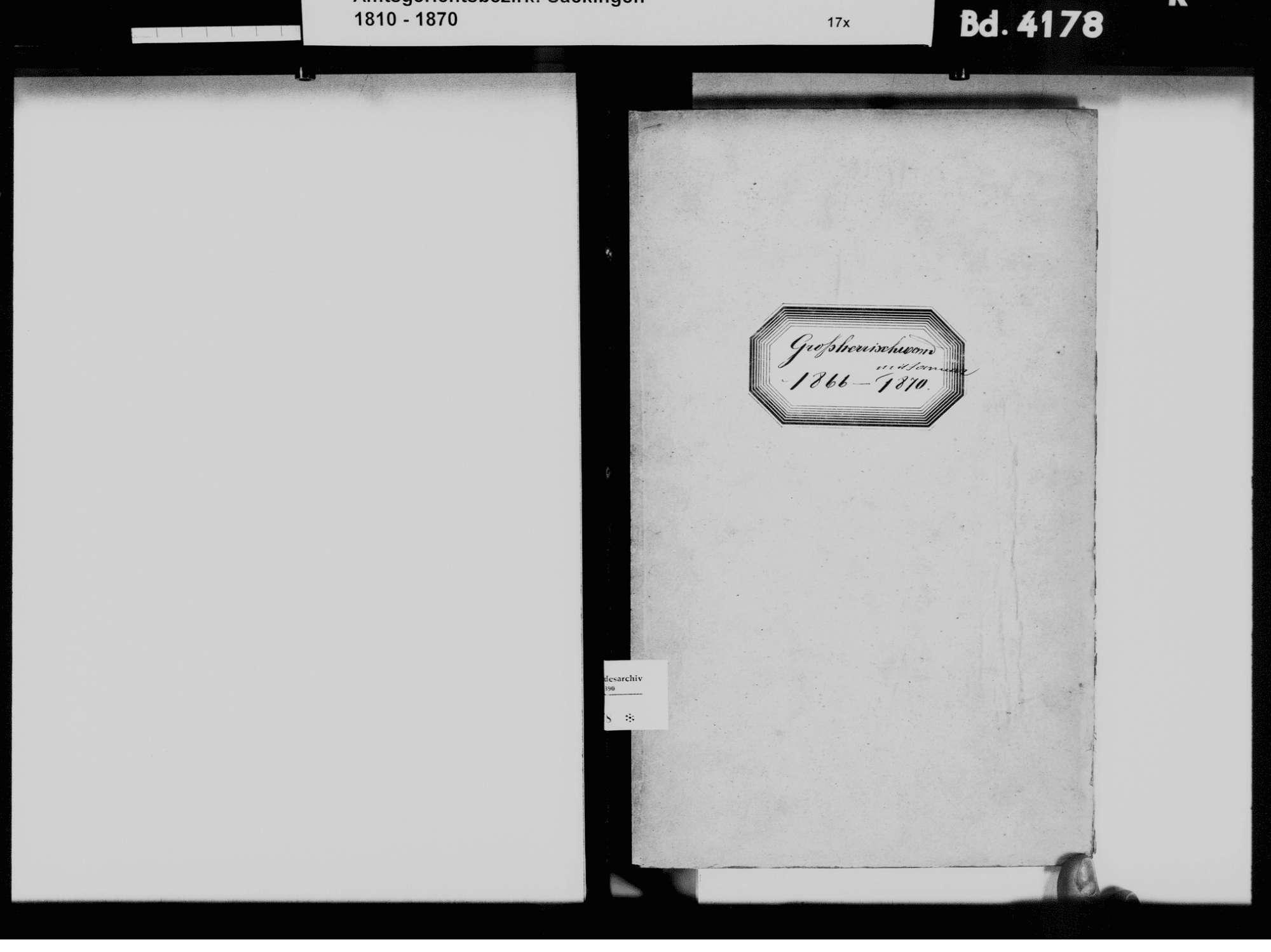 Großherrischried, Herrischried WT; Katholische Gemeinde: Geburtenbuch 1866-1870, Bild 3
