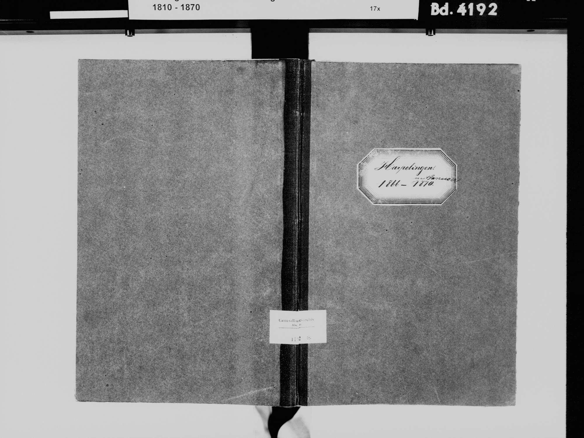 Harpolingen, Bad Säckingen WT; Katholische Gemeinde: Heiratsbuch 1866-1870, Bild 2