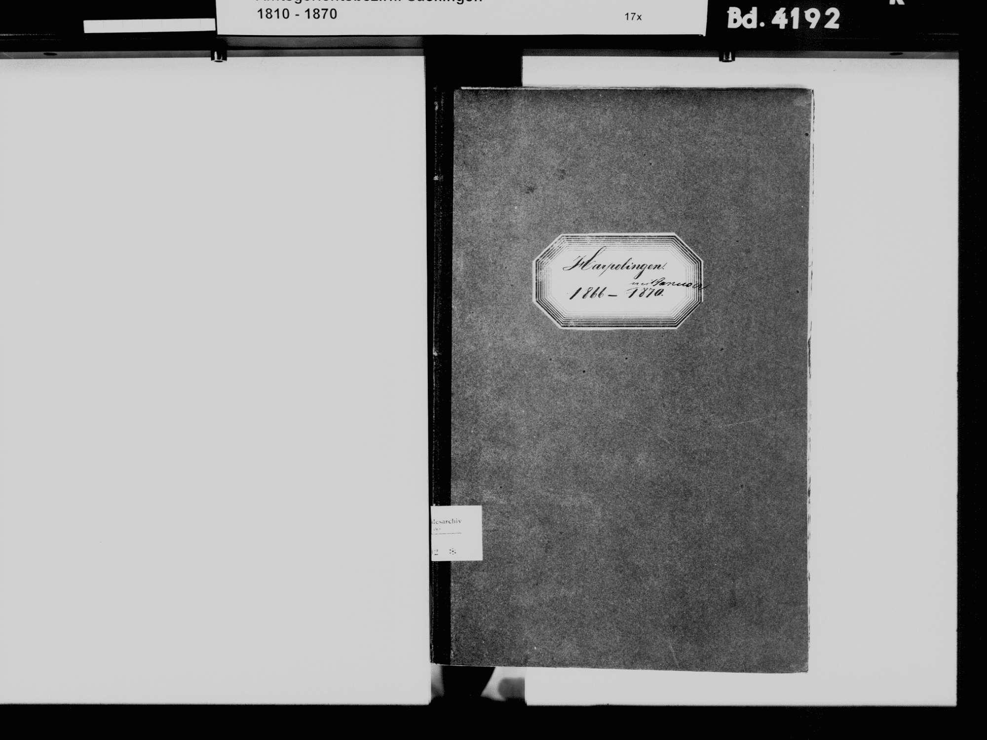 Harpolingen, Bad Säckingen WT; Katholische Gemeinde: Heiratsbuch 1866-1870, Bild 3