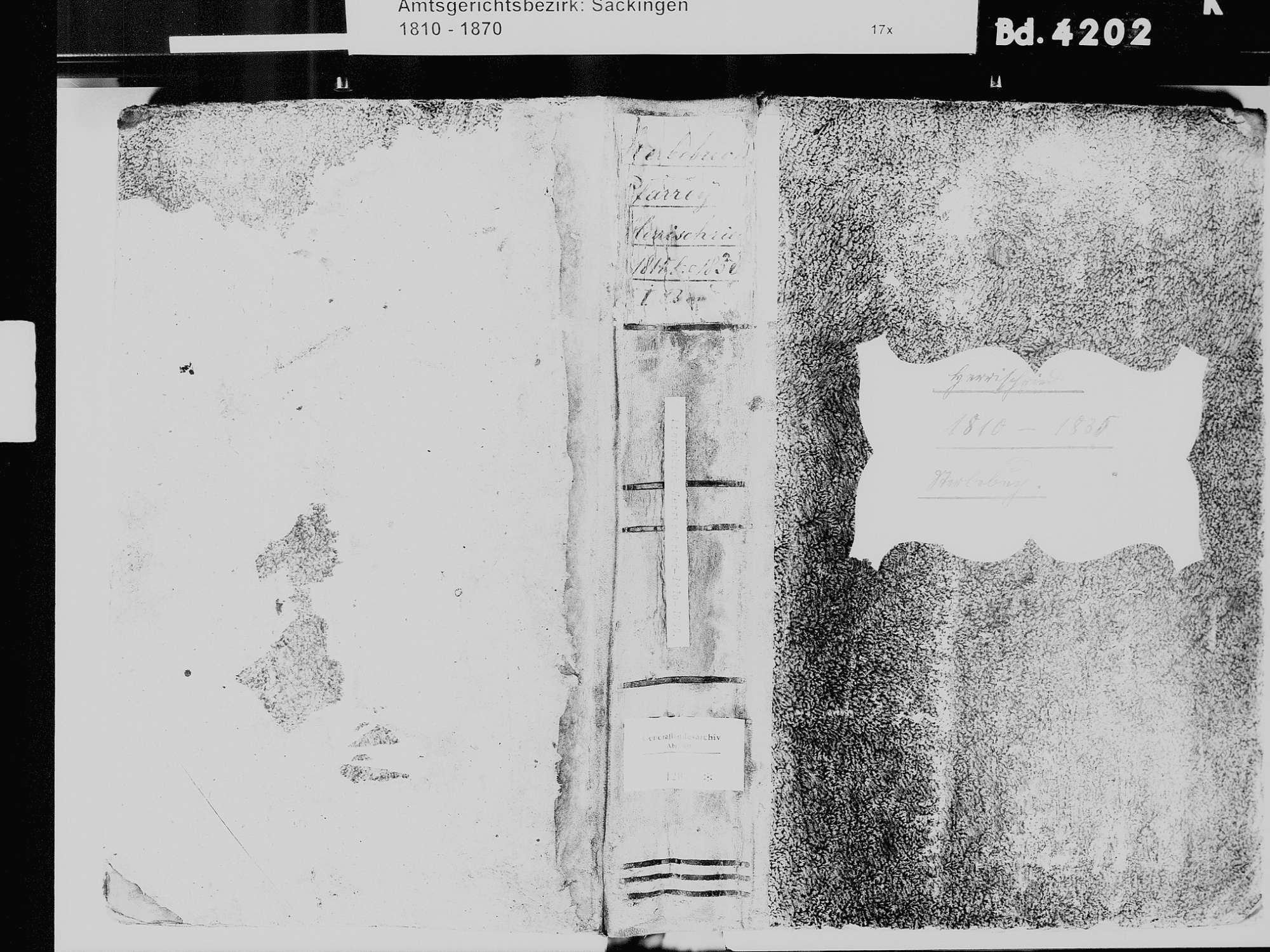 Herrischried WT; Katholische Gemeinde: Sterbebuch 1810-1835, Bild 2