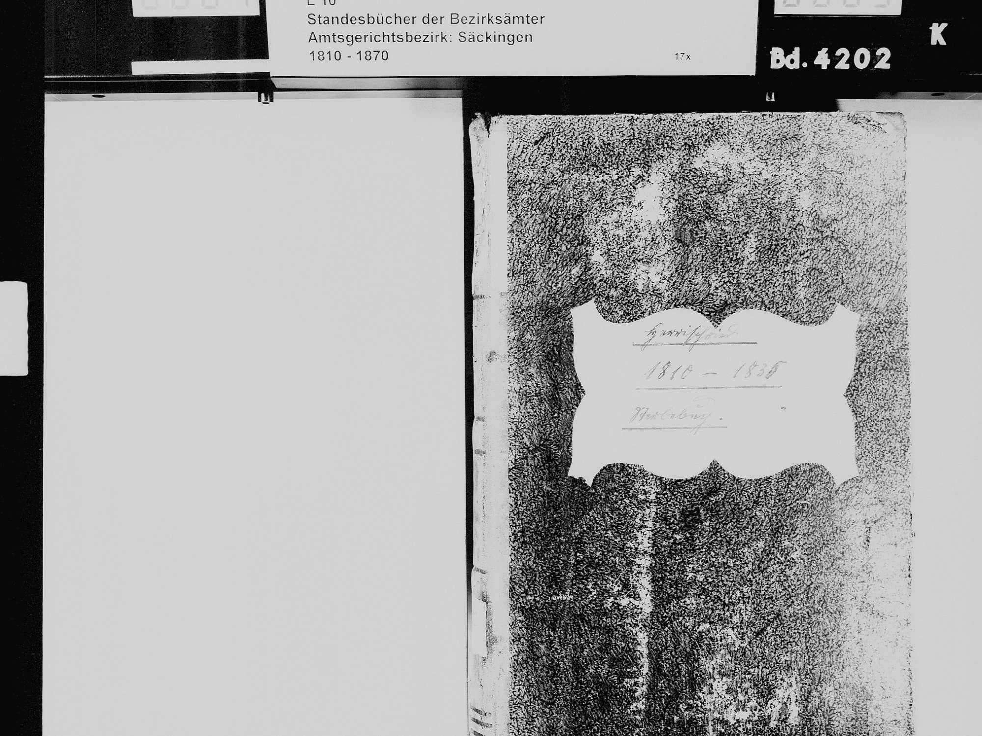 Herrischried WT; Katholische Gemeinde: Sterbebuch 1810-1835, Bild 3