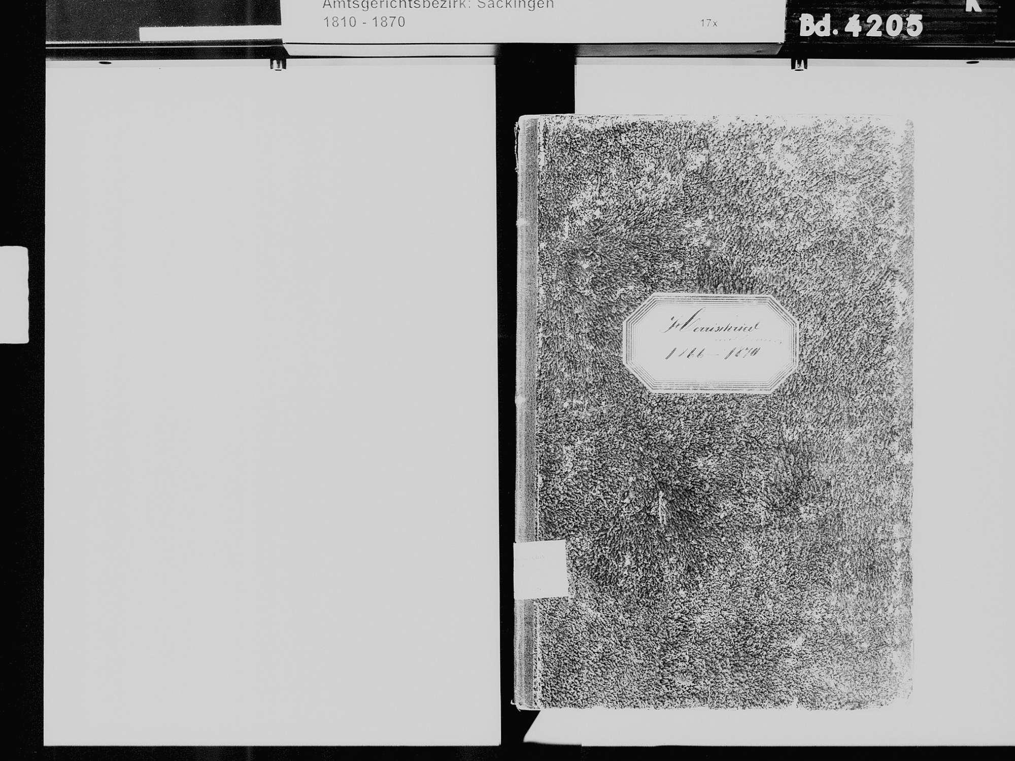 Herrischried WT; Katholische Gemeinde: Sterbebuch 1866-1870, Bild 3