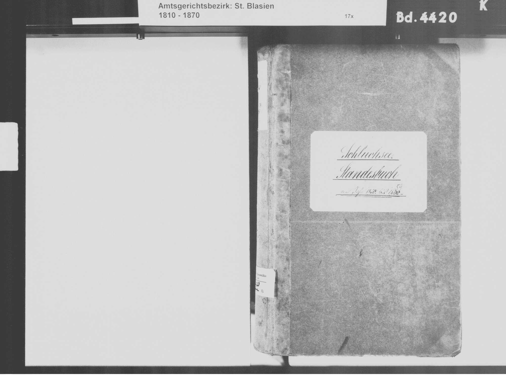 Schluchsee FR; Katholische Gemeinde: Standesbuch 1850-1859, Bild 3