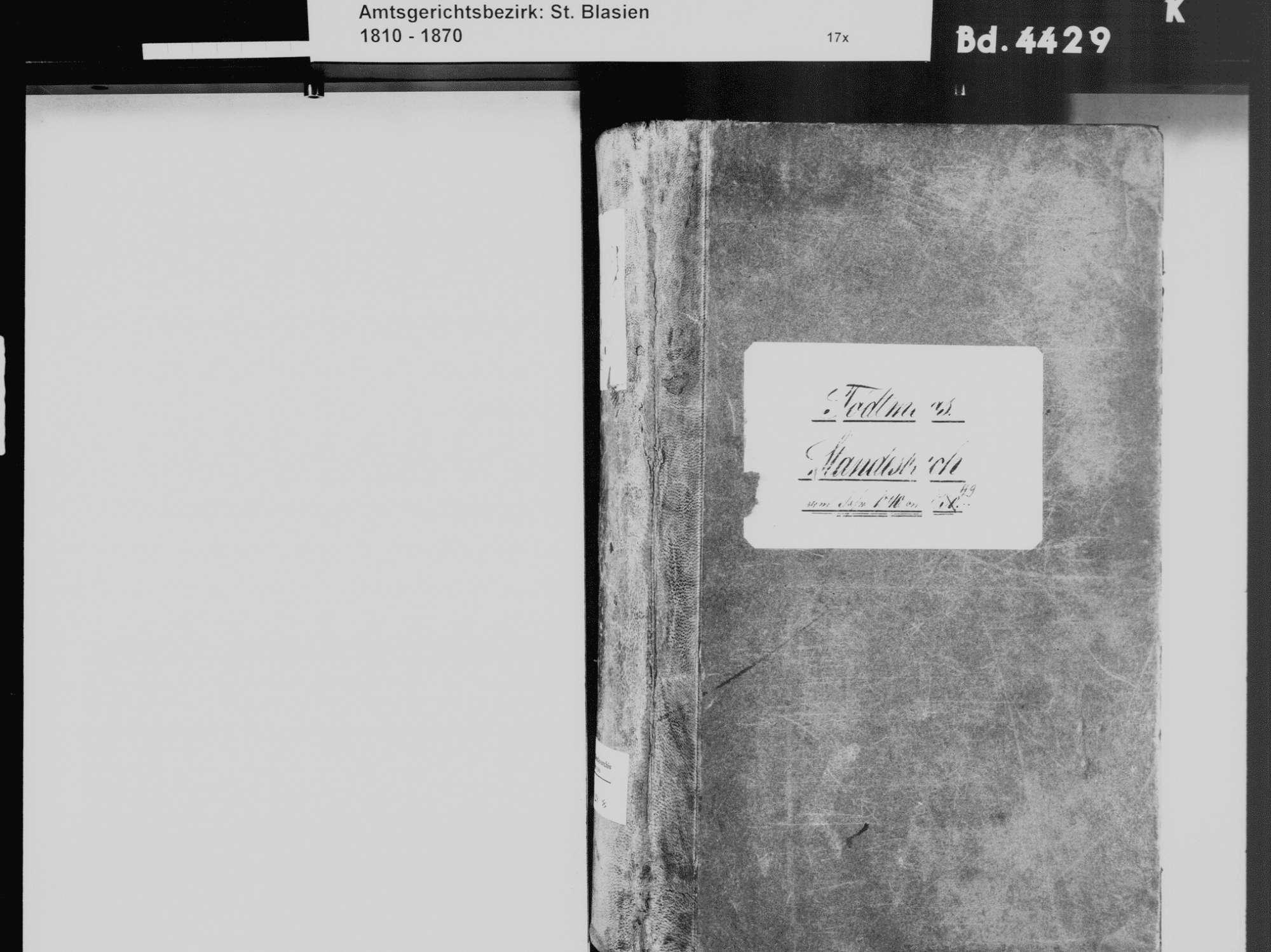 Todtmoos WT; Katholische Gemeinde: Standesbuch 1840-1849, Bild 3