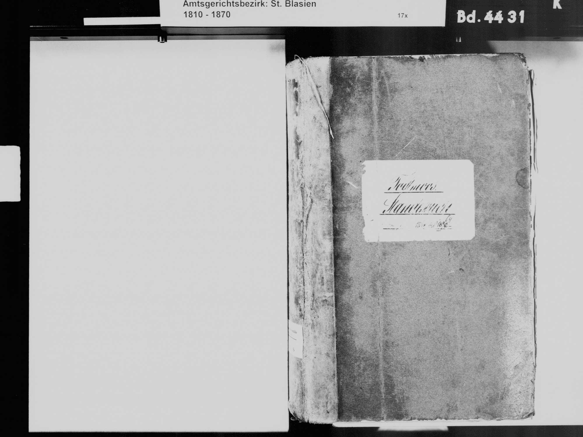 Todtmoos WT; Katholische Gemeinde: Standesbuch 1860-1869, Bild 3