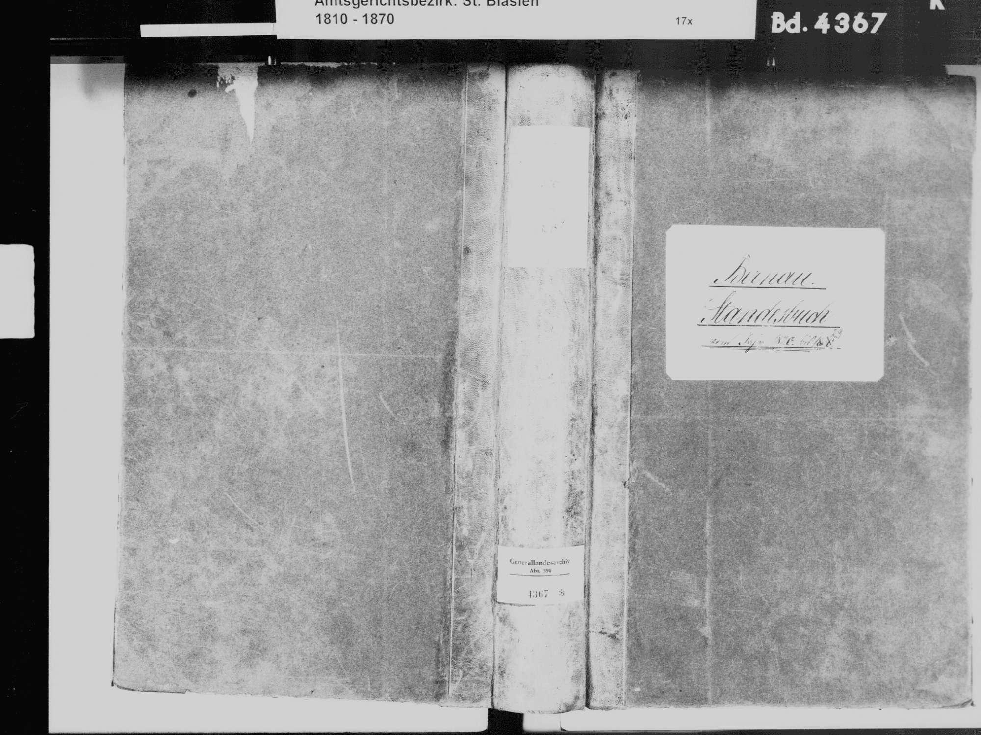 Bernau WT; Katholische Gemeinde: Standesbuch 1820-1829, Bild 2
