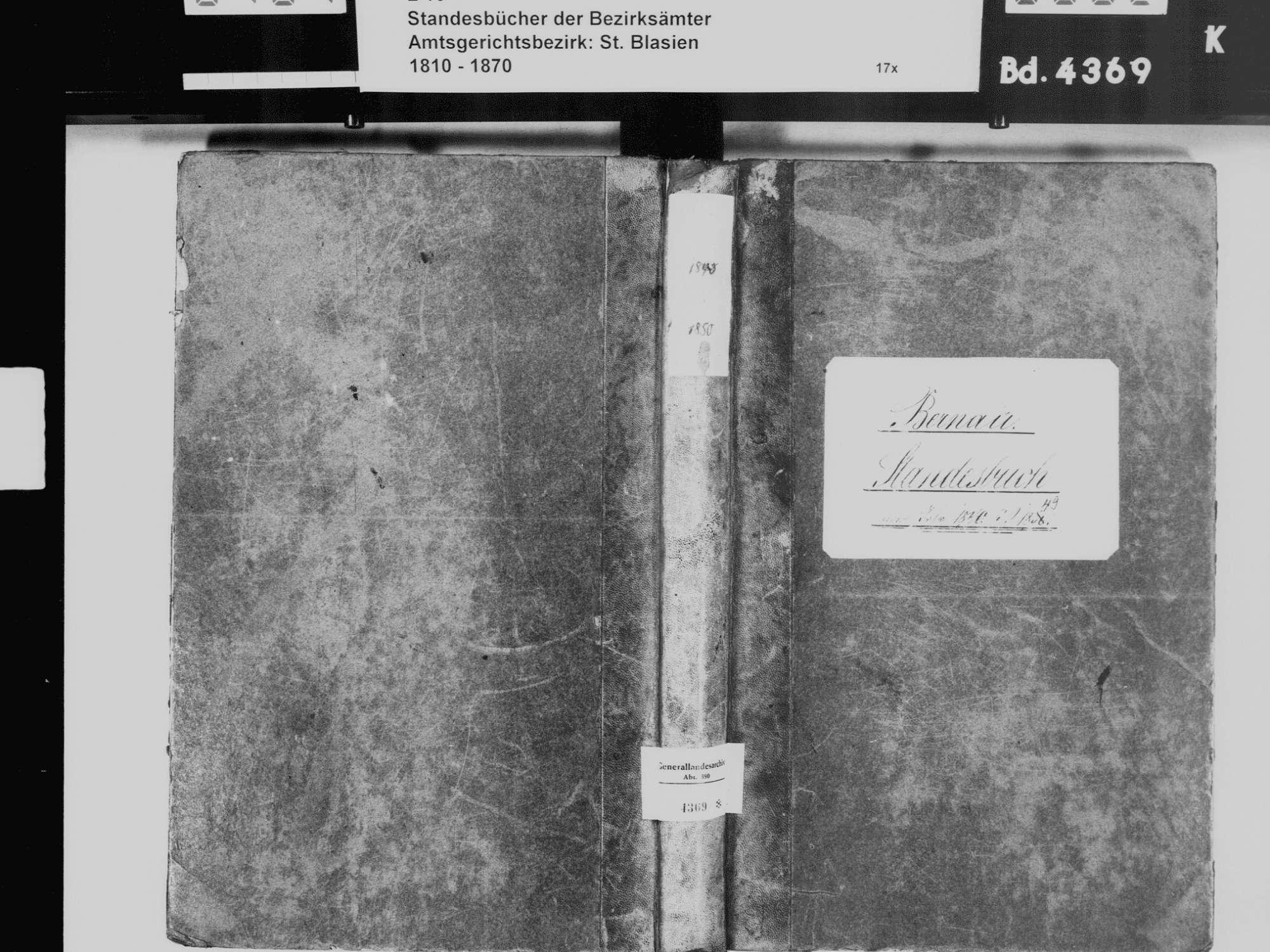 Bernau WT; Katholische Gemeinde: Standesbuch 1840-1849, Bild 2