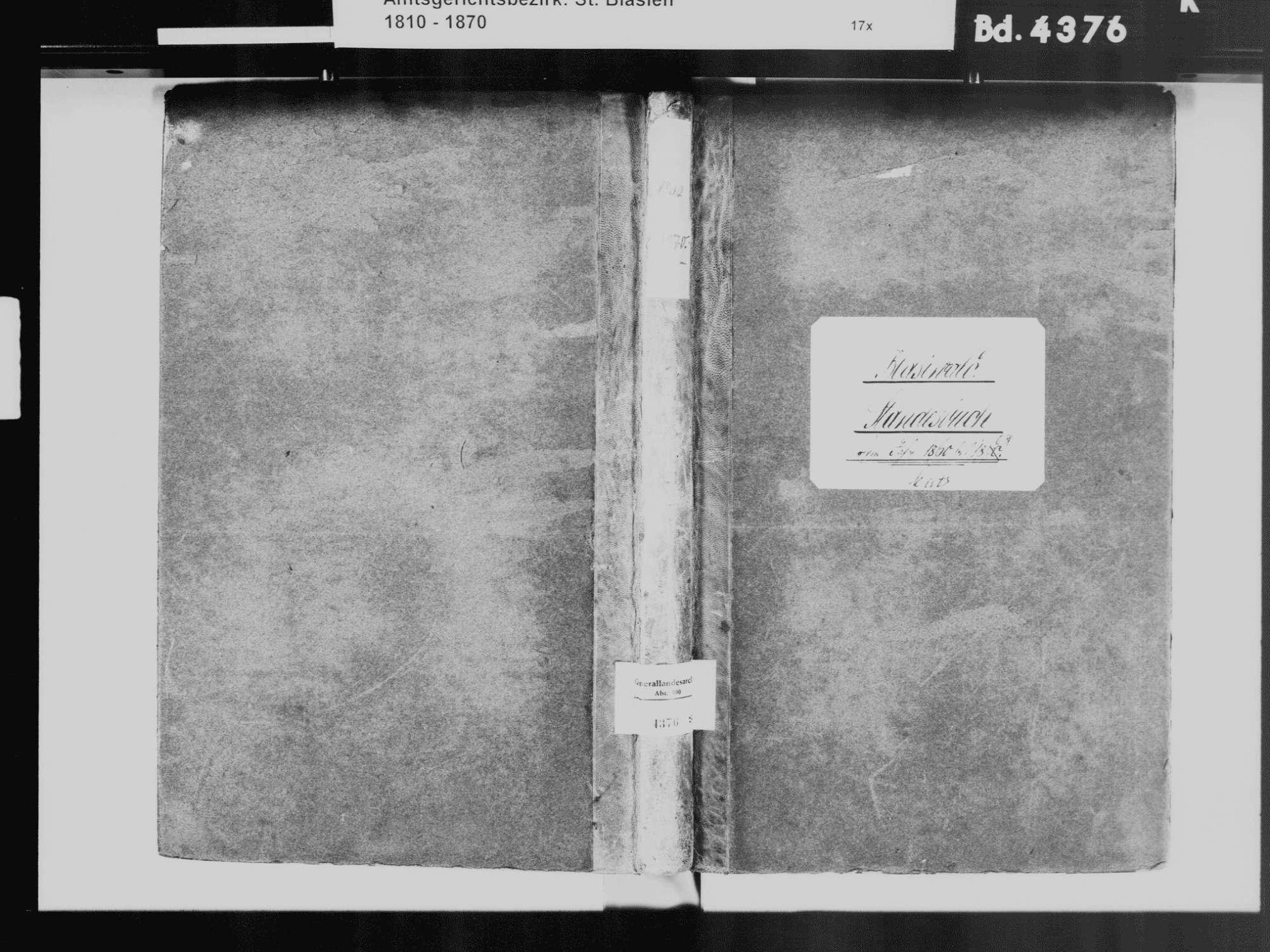 Blasiwald, Schluchsee FR; Katholische Gemeinde: Standesbuch 1860-1869, Bild 2