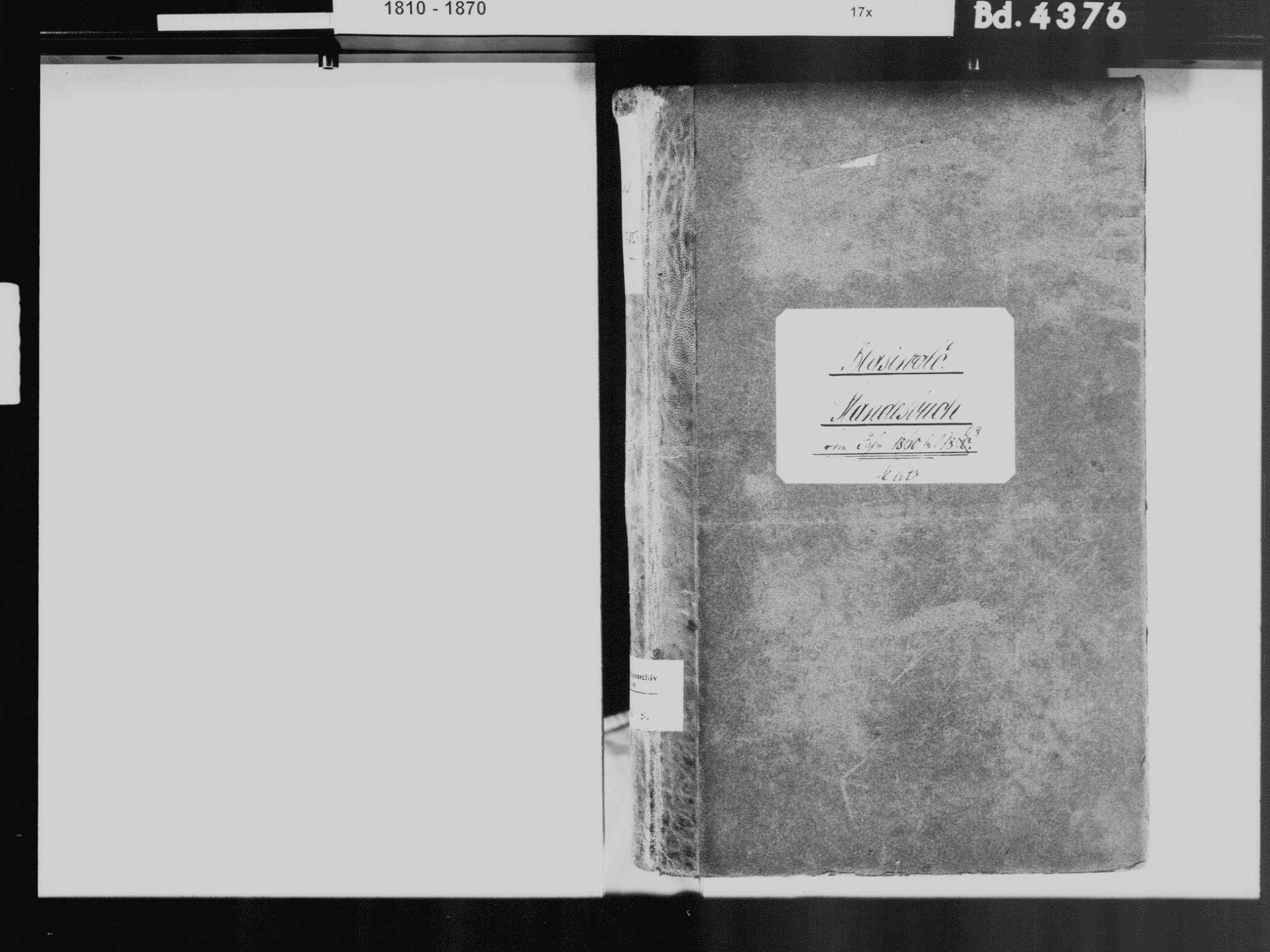 Blasiwald, Schluchsee FR; Katholische Gemeinde: Standesbuch 1860-1869, Bild 3