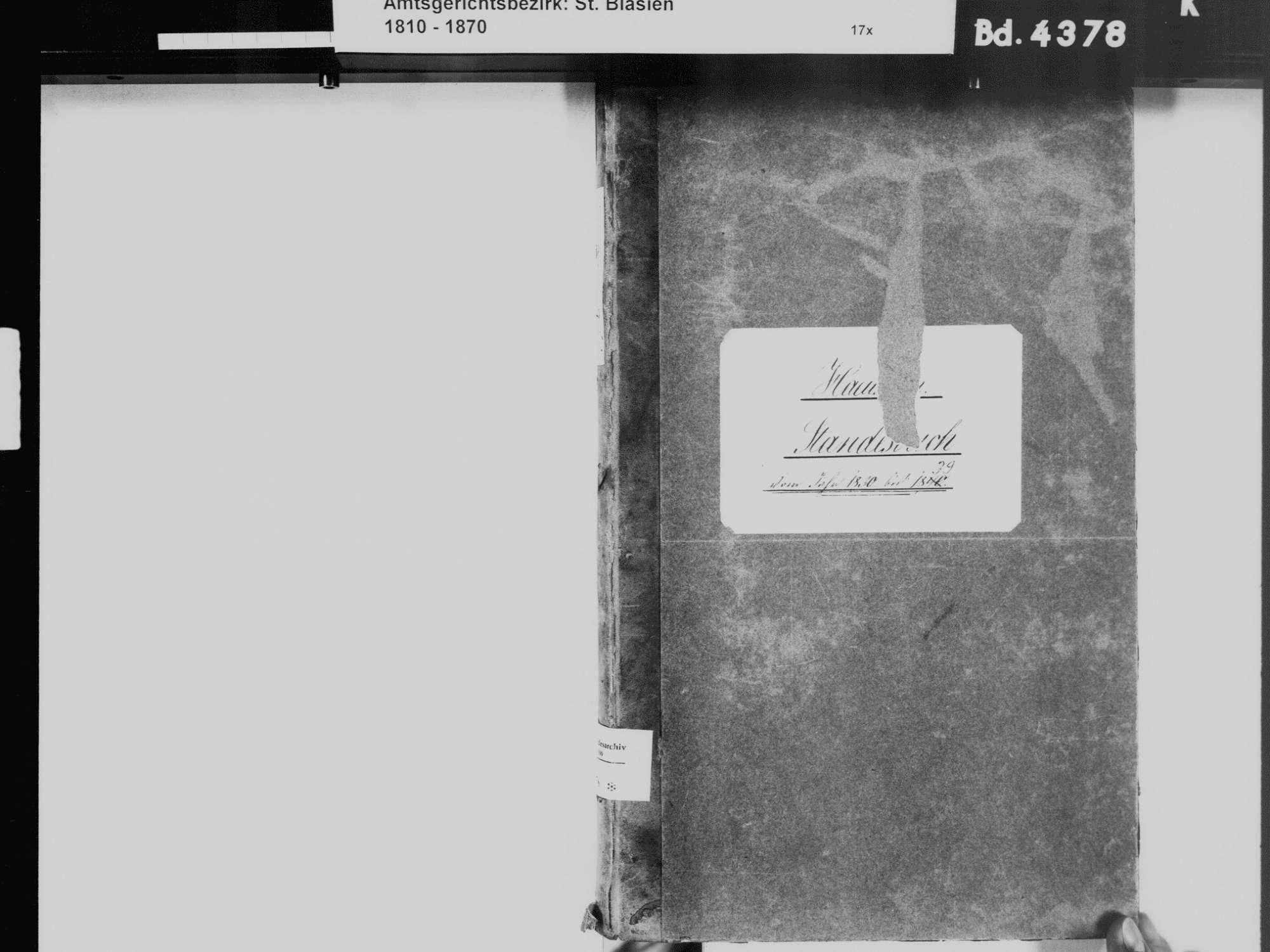 Häusern WT; Katholische Gemeinde: Standesbuch 1830-1839, Bild 3