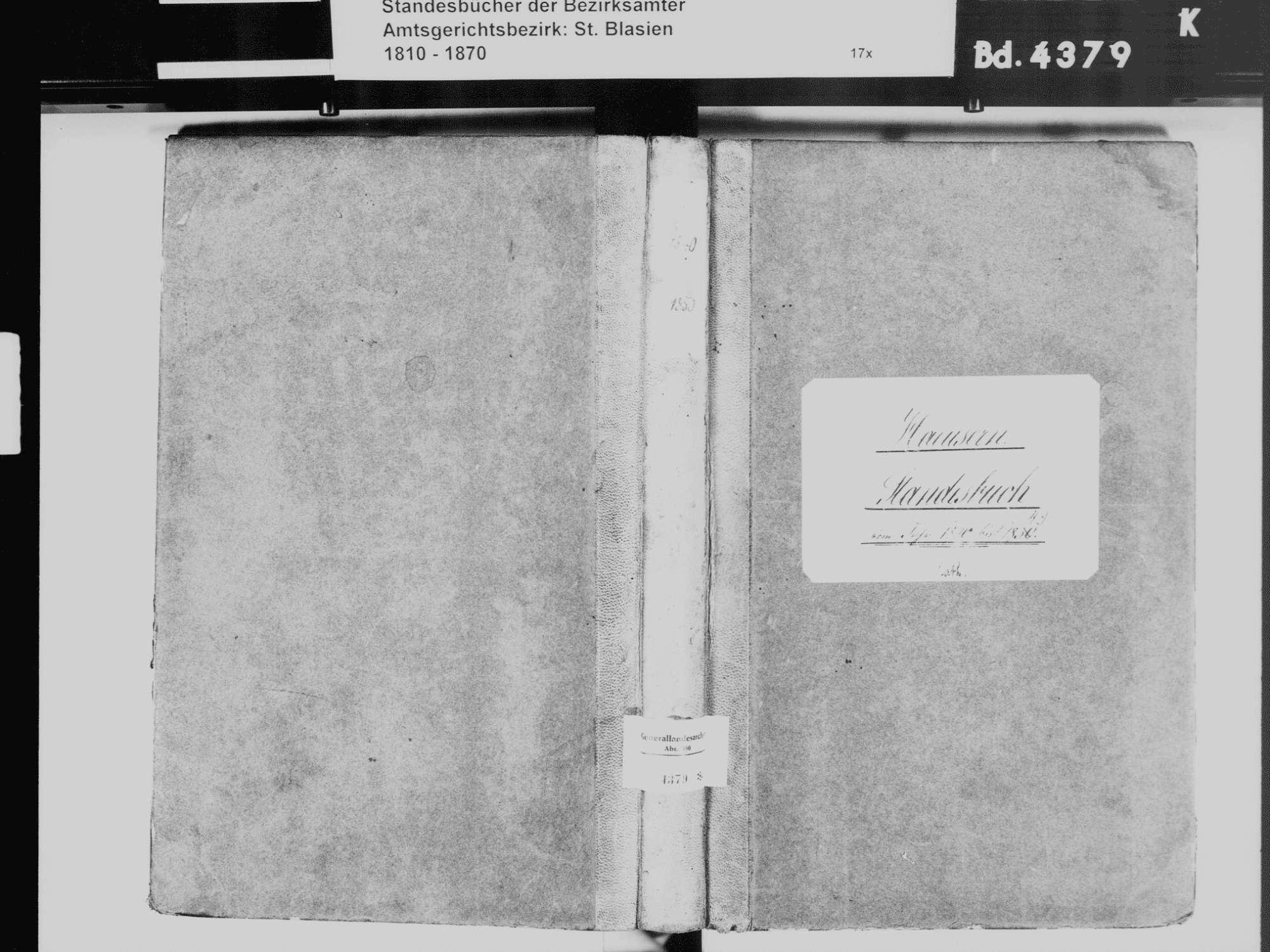 Häusern WT; Katholische Gemeinde: Standesbuch 1840-1849, Bild 2