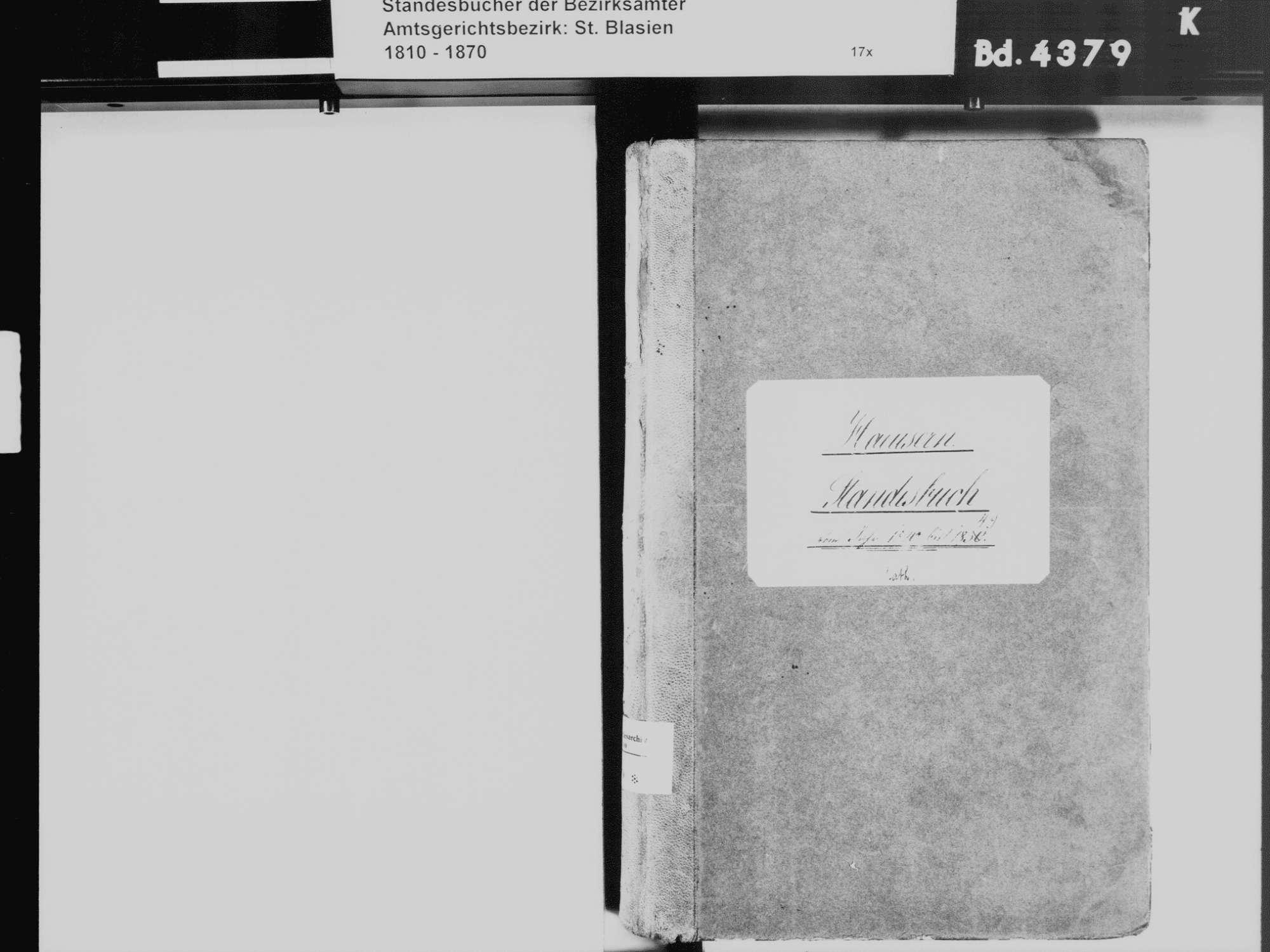 Häusern WT; Katholische Gemeinde: Standesbuch 1840-1849, Bild 3