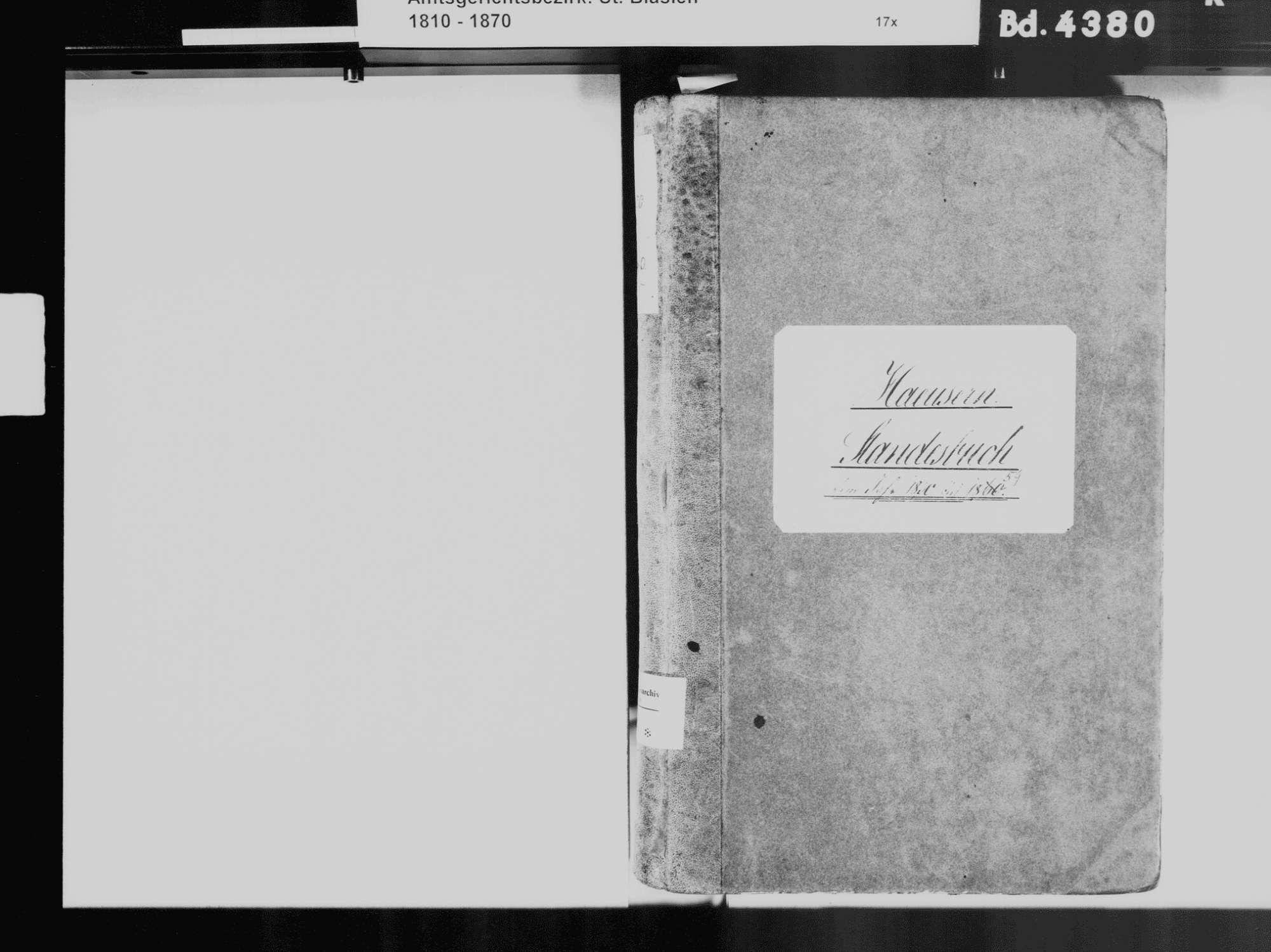 Häusern WT; Katholische Gemeinde: Standesbuch 1850-1859, Bild 3