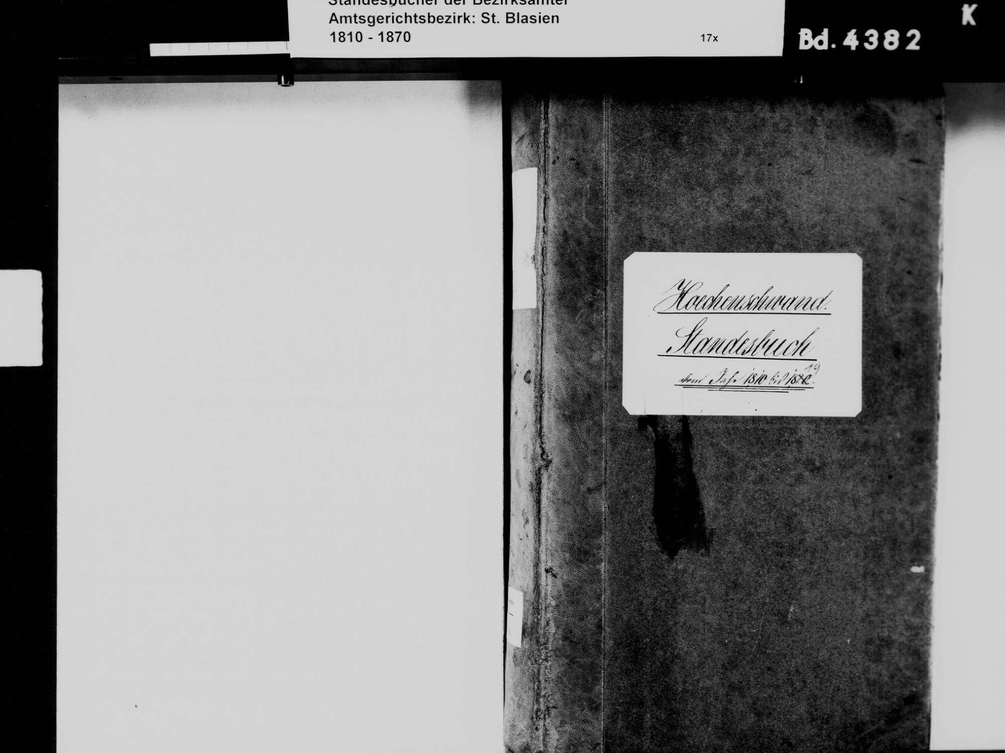 Höchenschwand WT; Katholische Gemeinde: Standesbuch 1810-1819, Bild 3