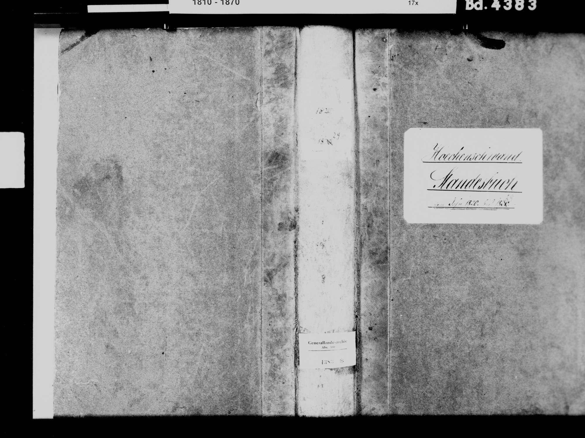 Höchenschwand WT; Katholische Gemeinde: Standesbuch 1820-1829, Bild 2