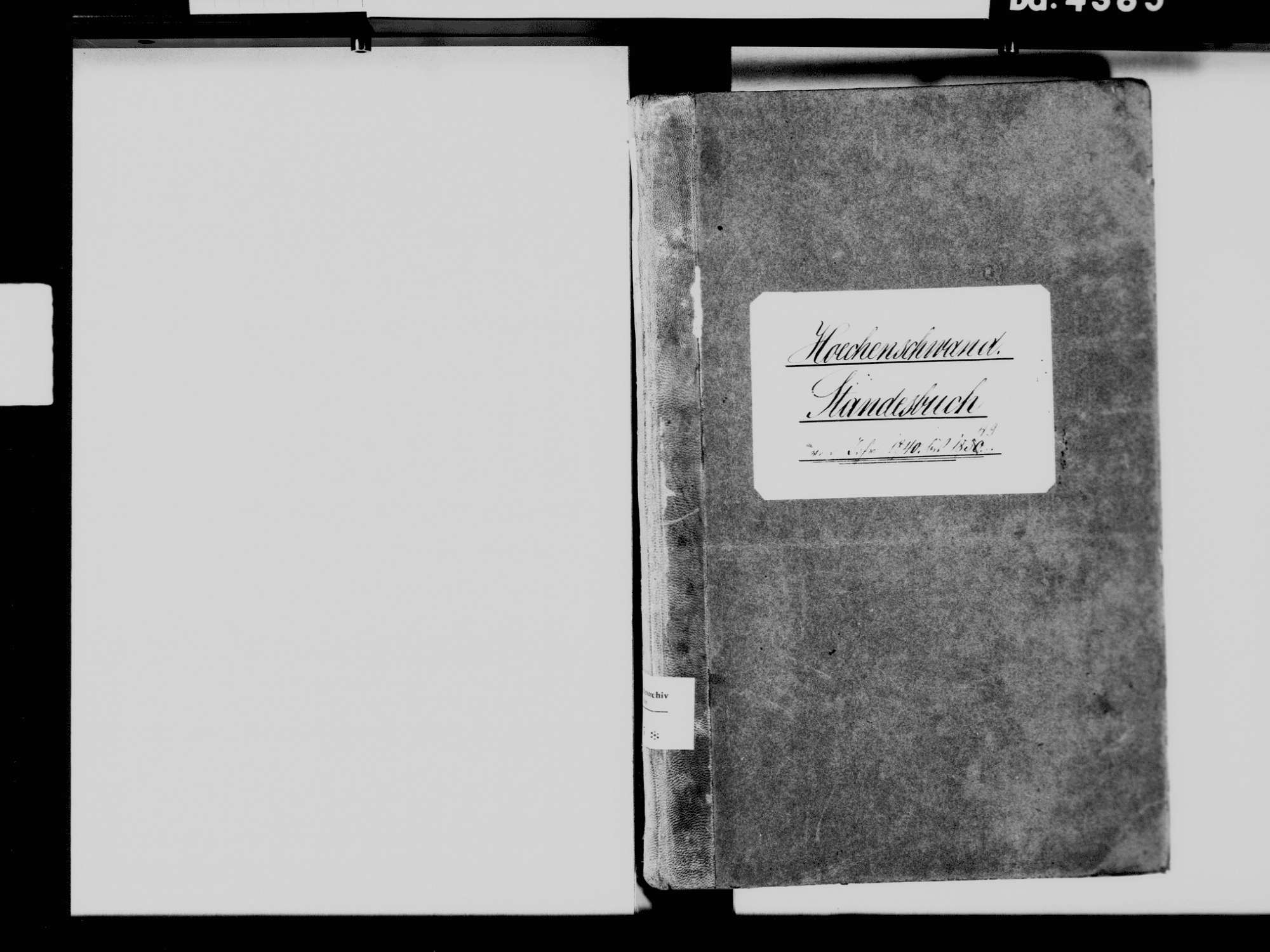 Höchenschwand WT; Katholische Gemeinde: Standesbuch 1840-1849, Bild 3