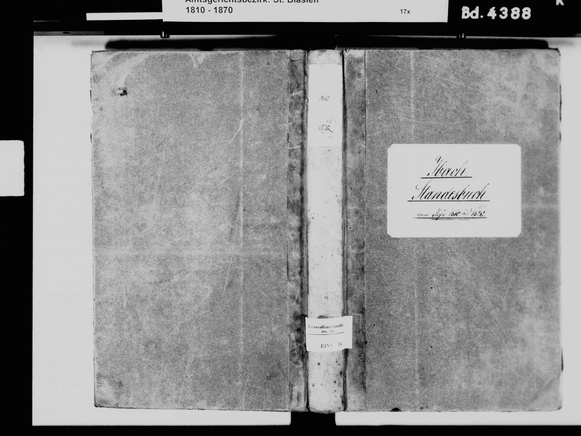 Ibach WT; Katholische Gemeinde: Standesbuch 1810-1819, Bild 2