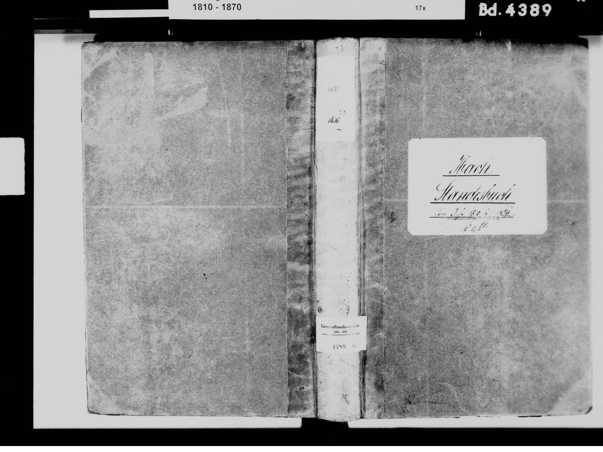 Ibach WT; Katholische Gemeinde: Standesbuch 1820-1829, Bild 3