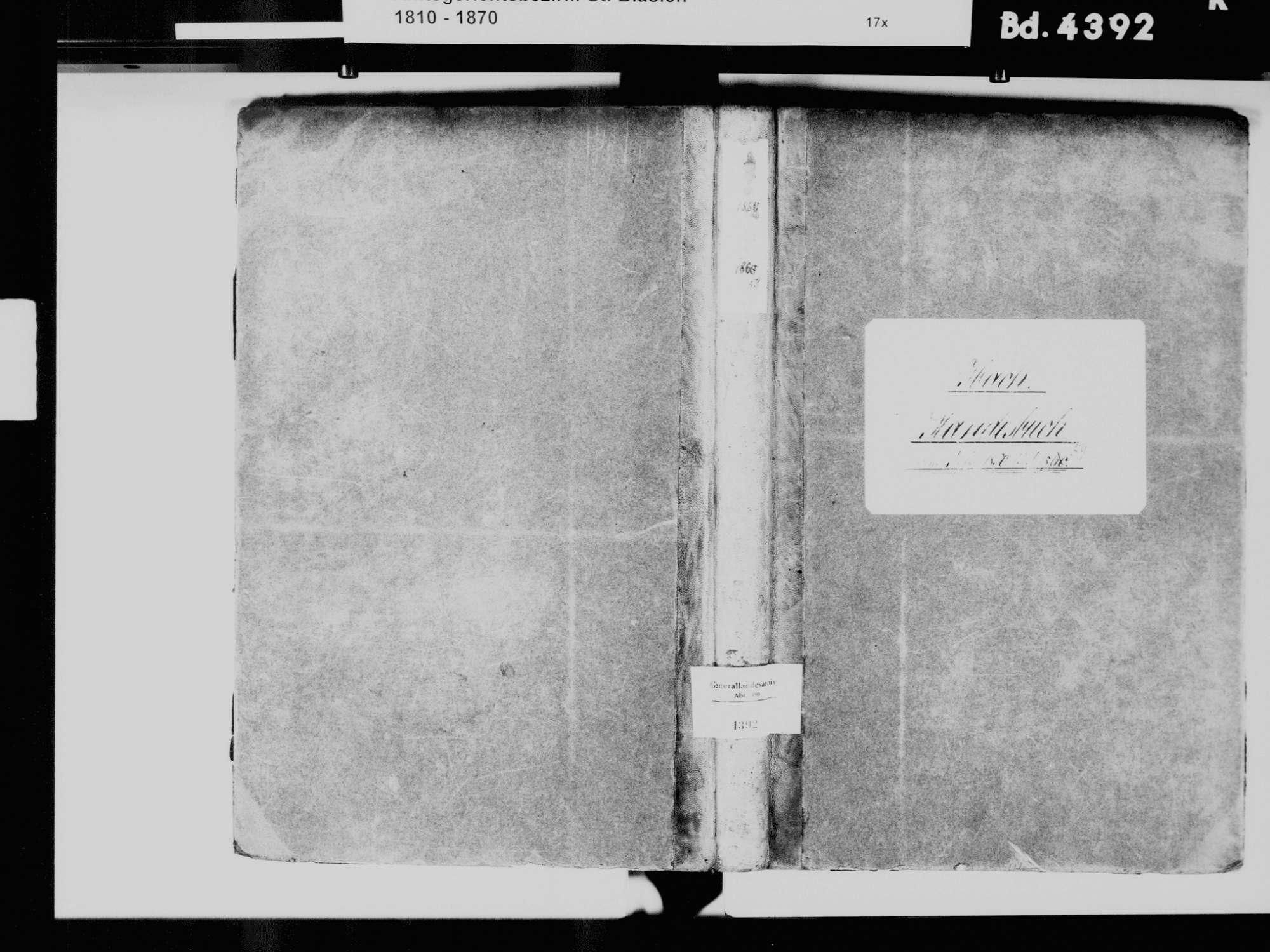 Ibach WT; Katholische Gemeinde: Standesbuch 1850-1859, Bild 2