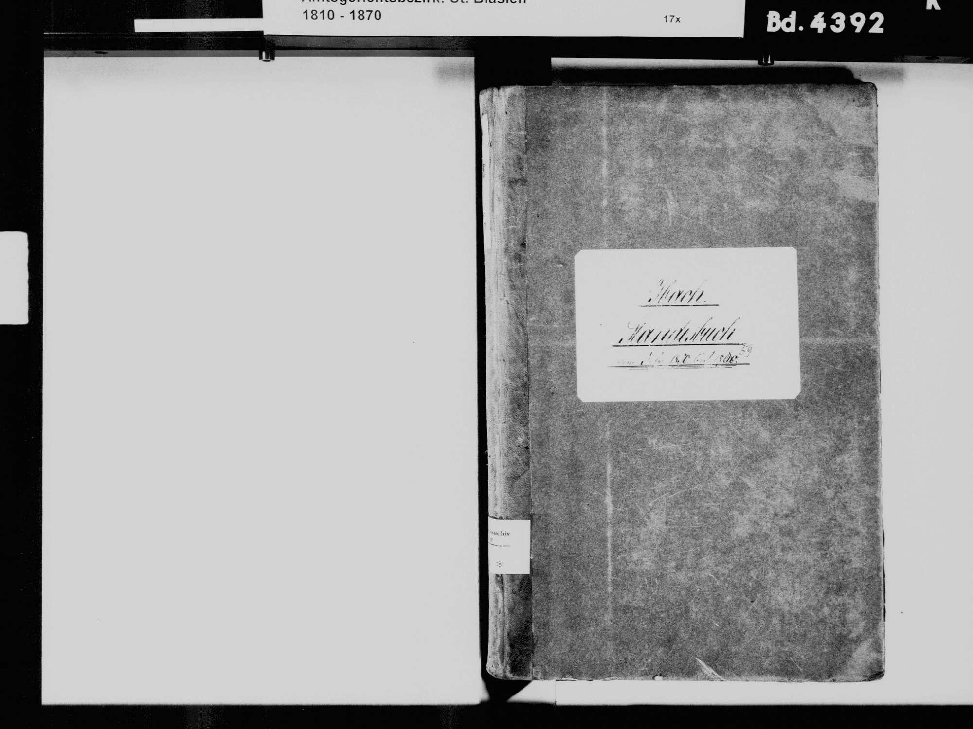 Ibach WT; Katholische Gemeinde: Standesbuch 1850-1859, Bild 3