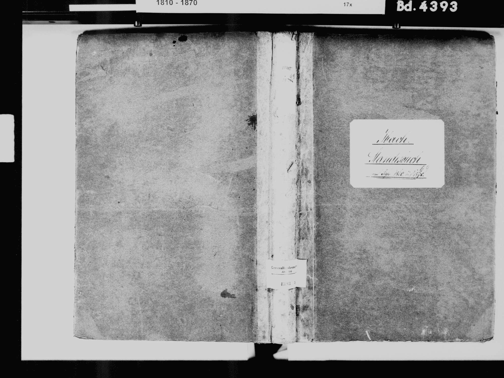 Ibach WT; Katholische Gemeinde: Standesbuch 1860-1869, Bild 2