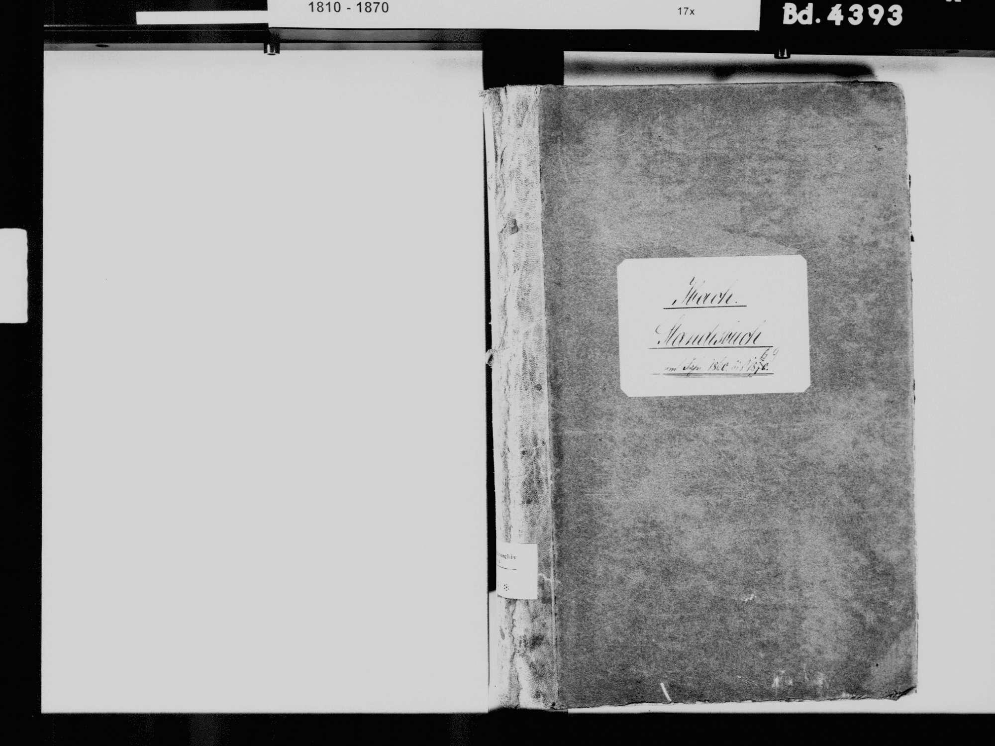 Ibach WT; Katholische Gemeinde: Standesbuch 1860-1869, Bild 3