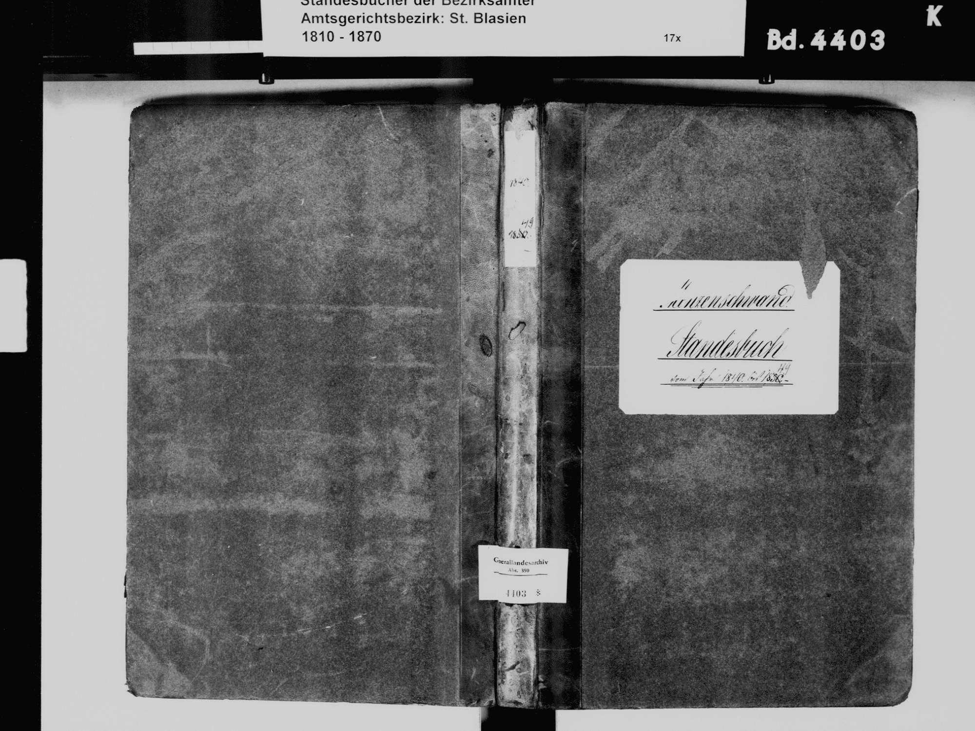 Menzenschwand, St. Blasien WT; Katholische Gemeinde: Standesbuch 1840-1849, Bild 2