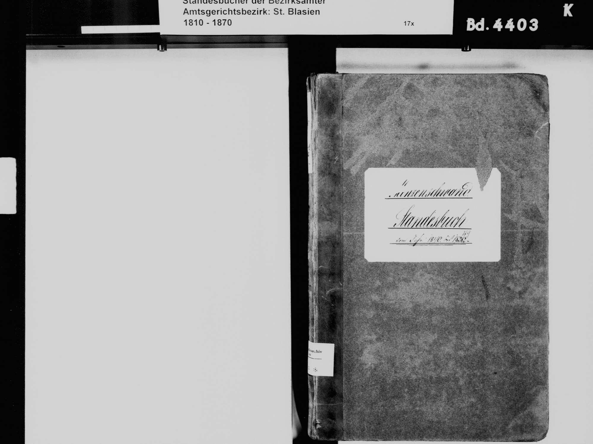 Menzenschwand, St. Blasien WT; Katholische Gemeinde: Standesbuch 1840-1849, Bild 3