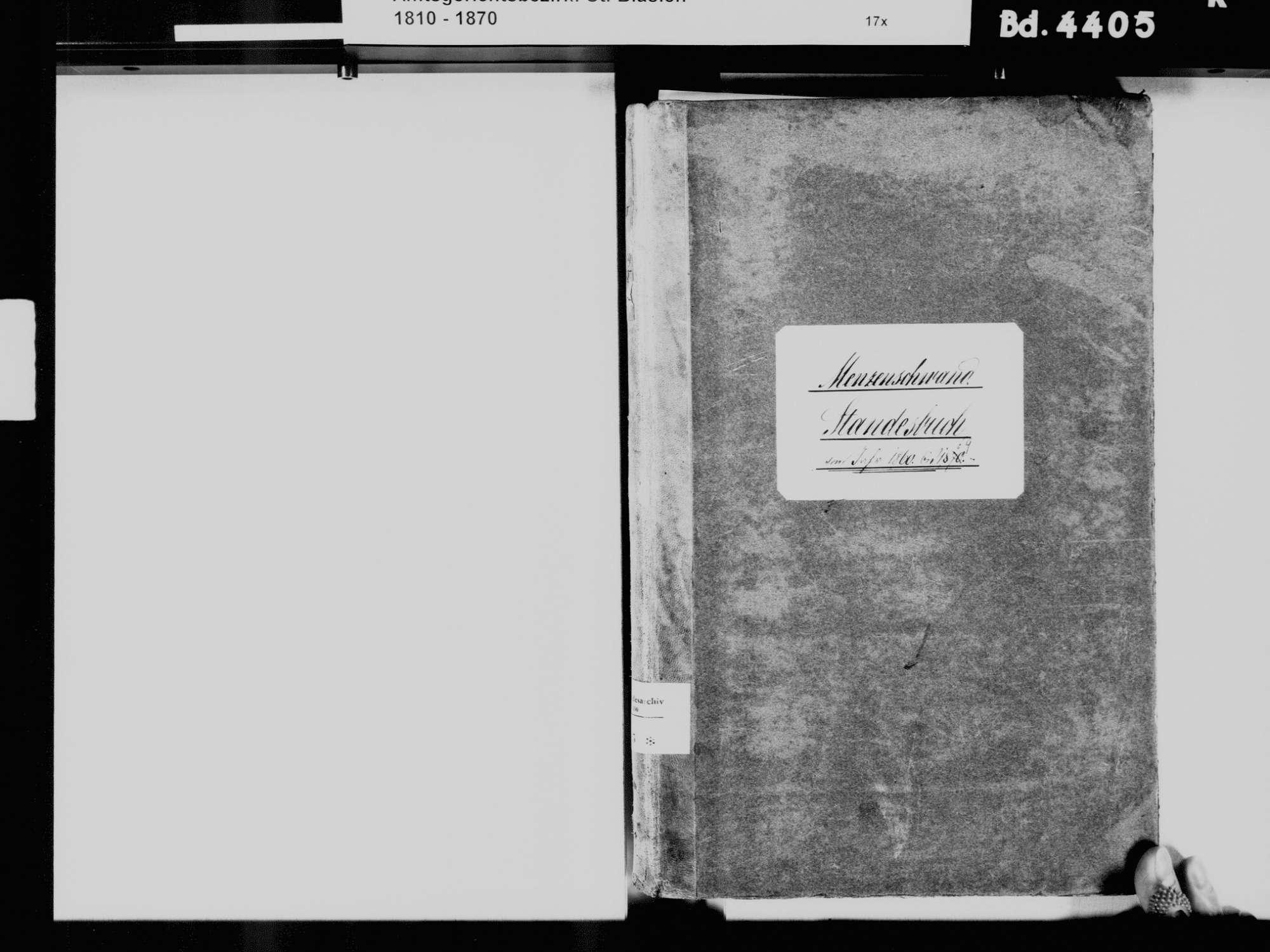 Menzenschwand, St. Blasien WT; Katholische Gemeinde: Standesbuch 1860-1869, Bild 3
