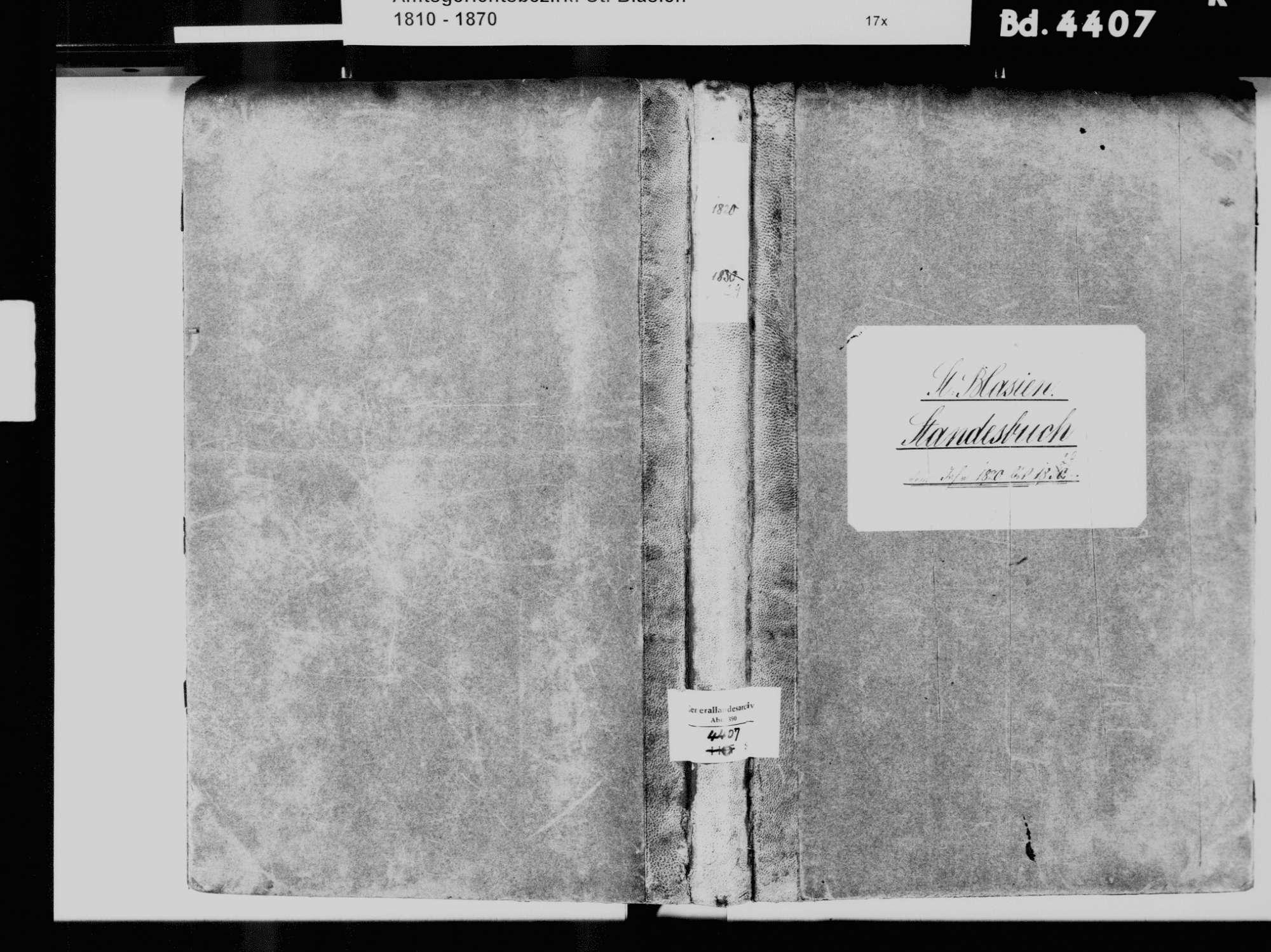 St. Blasien WT; Katholische Gemeinde: Standesbuch 1820-1829, Bild 2