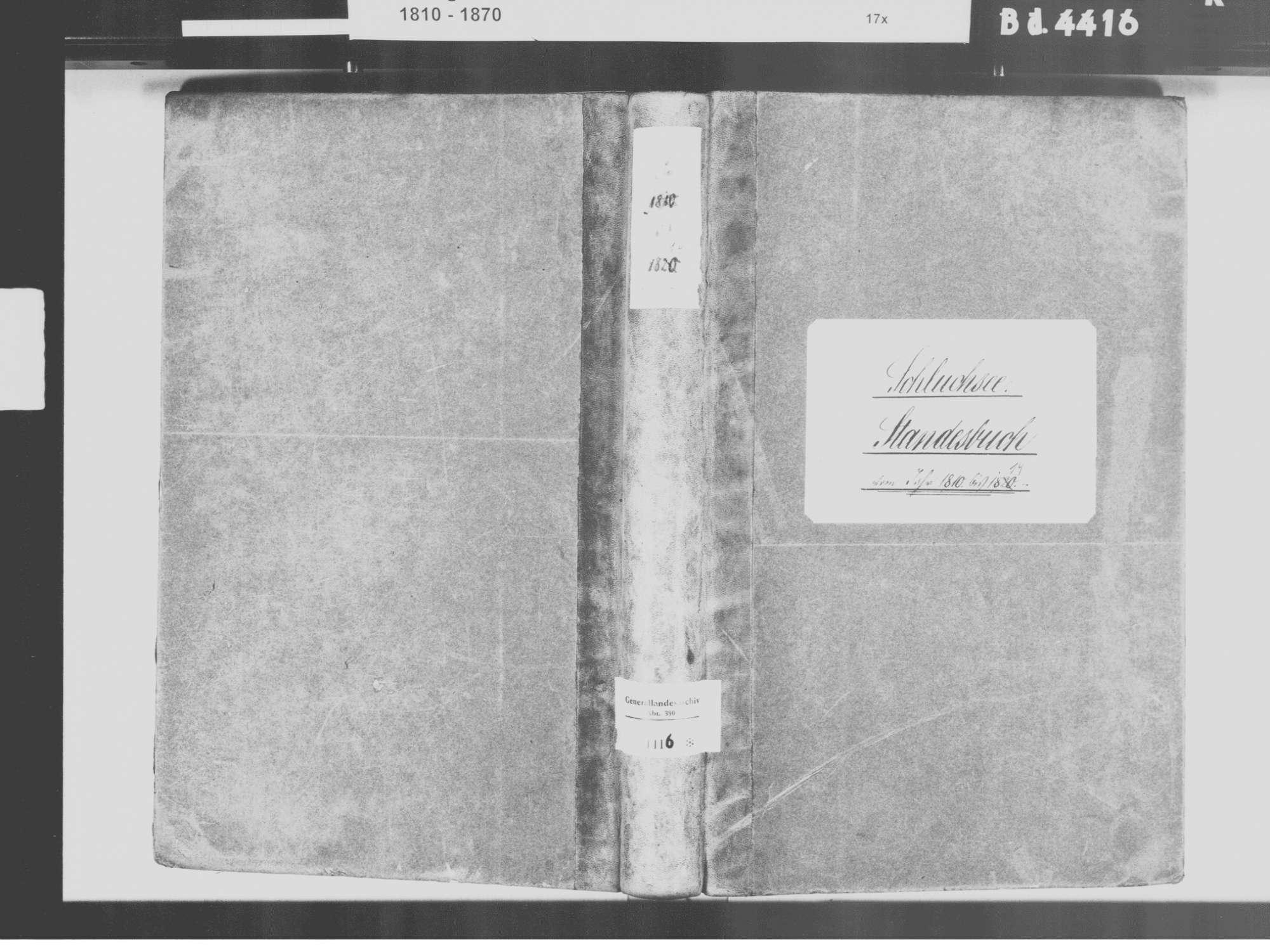 Schluchsee FR; Katholische Gemeinde: Standesbuch 1810-1819, Bild 2