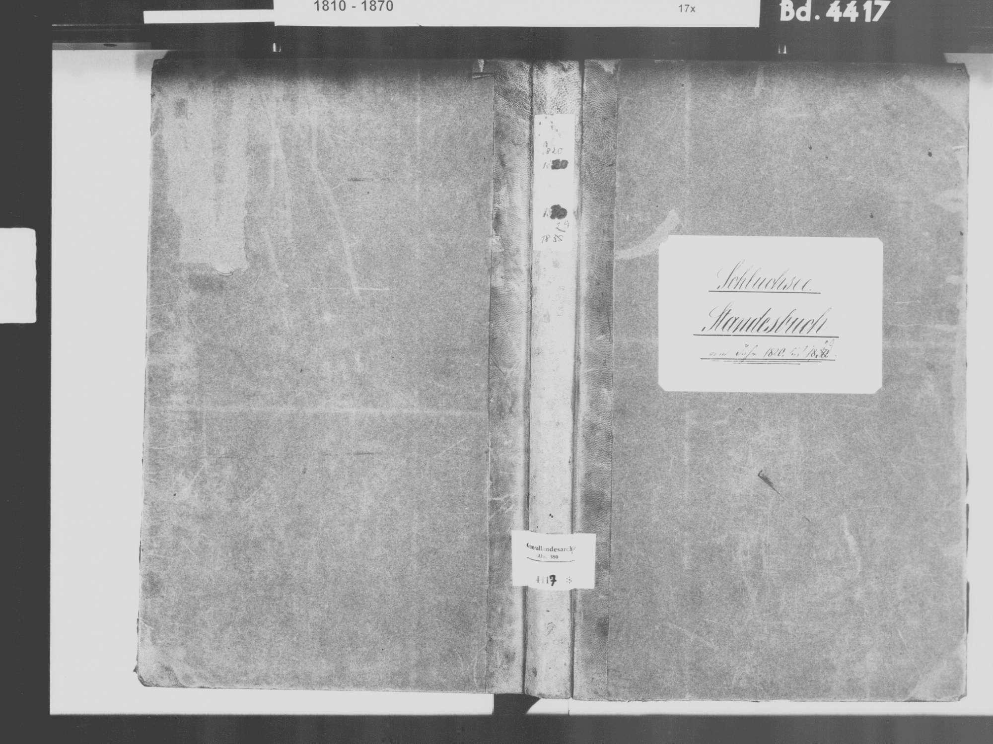 Schluchsee FR; Katholische Gemeinde: Standesbuch 1820-1829, Bild 2